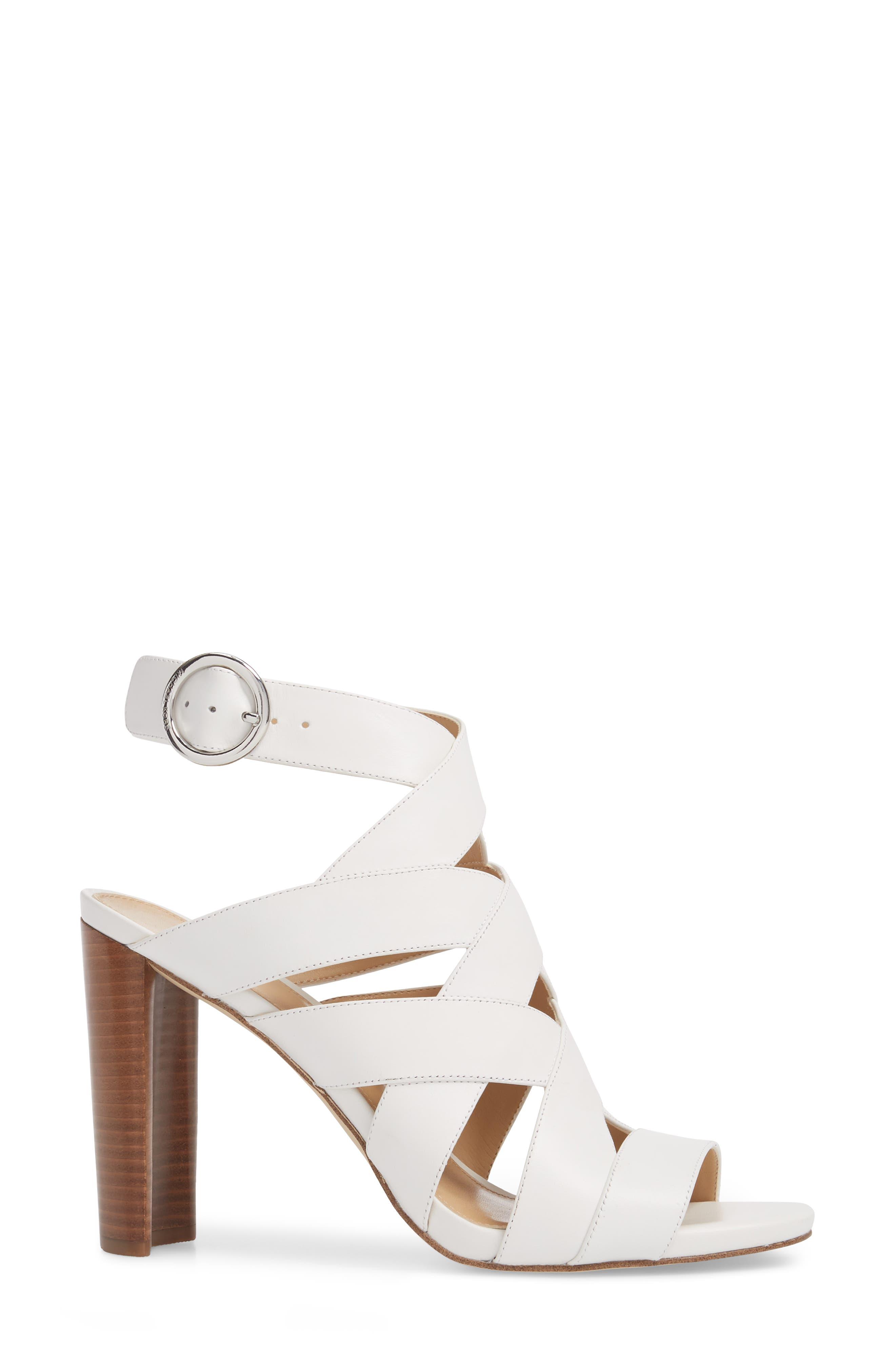 Alana Sandal,                             Alternate thumbnail 3, color,                             Optic White Leather