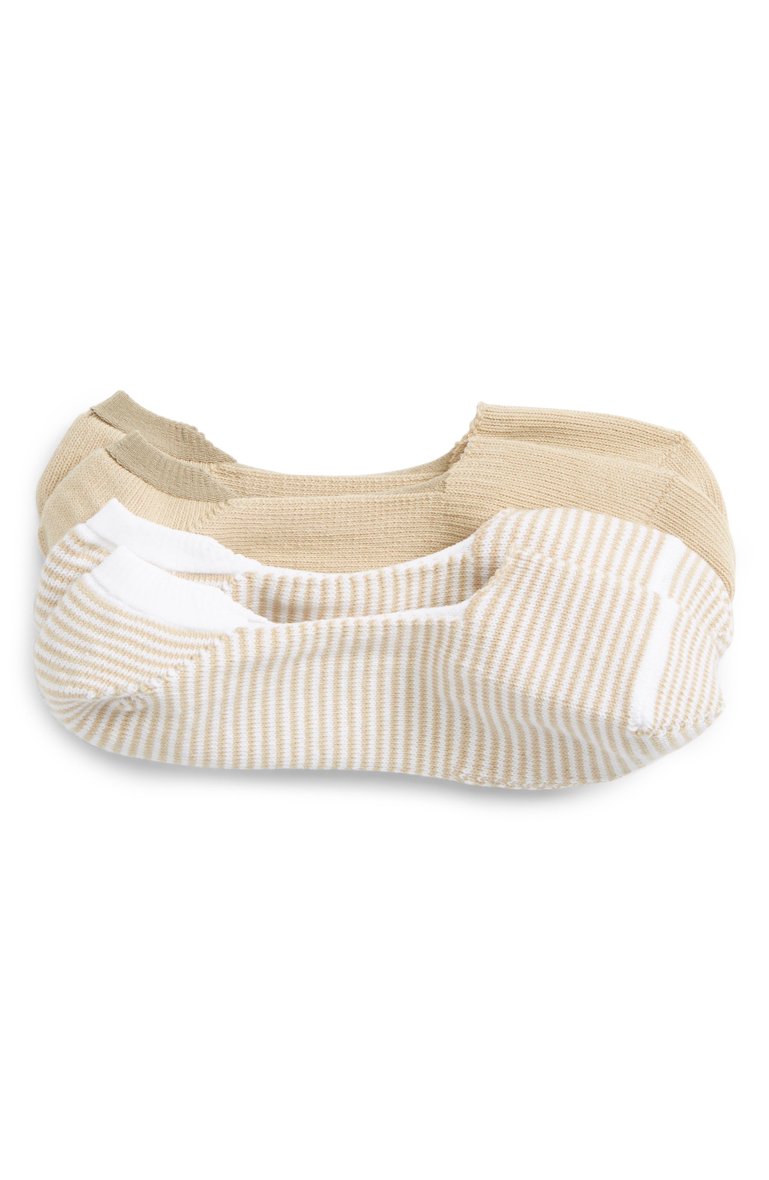 2-Pack Liner Socks,                         Main,                         color, Tan Nomad/ White