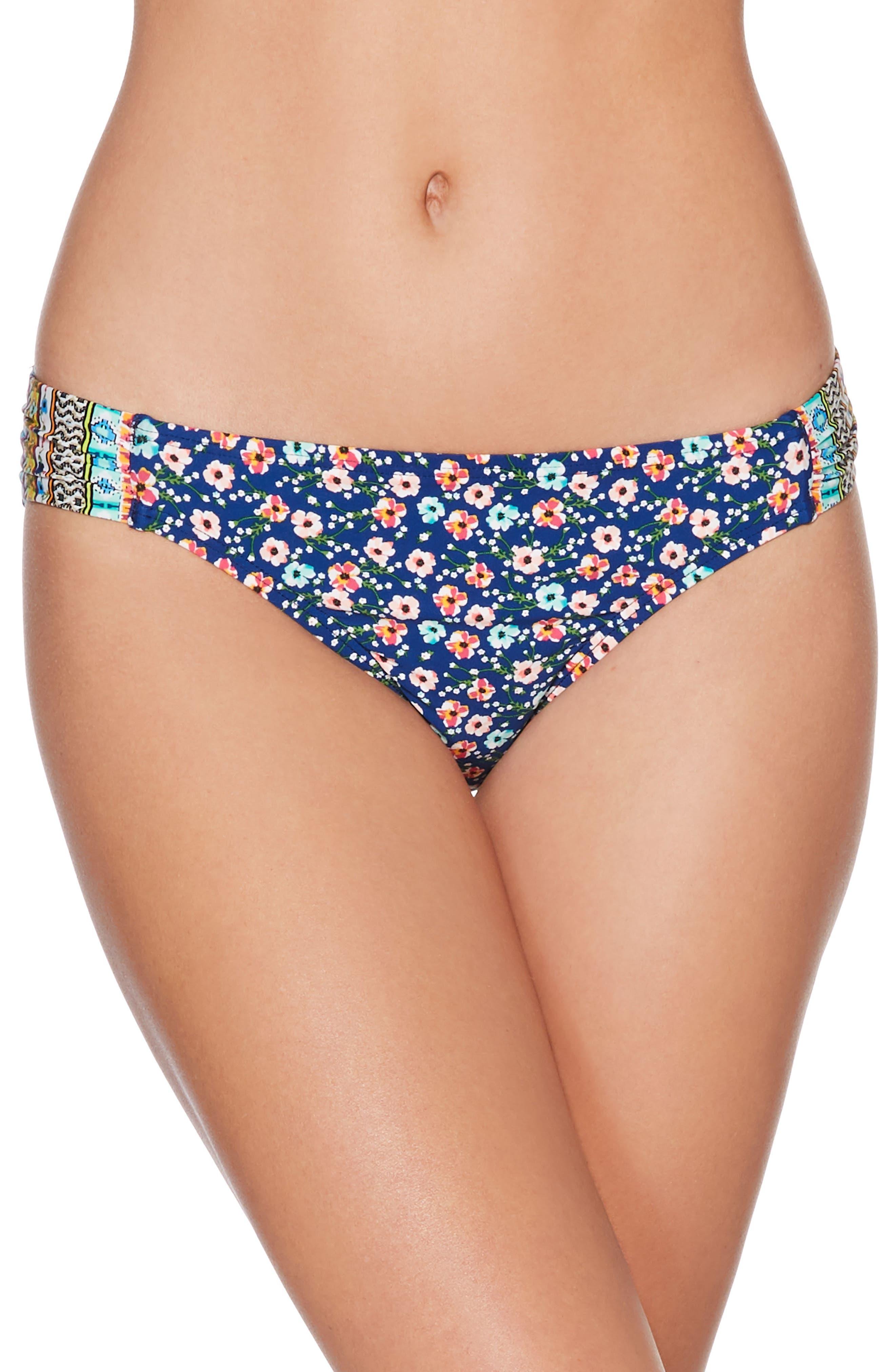 Bikini Bottoms,                             Main thumbnail 1, color,                             Blue Multi