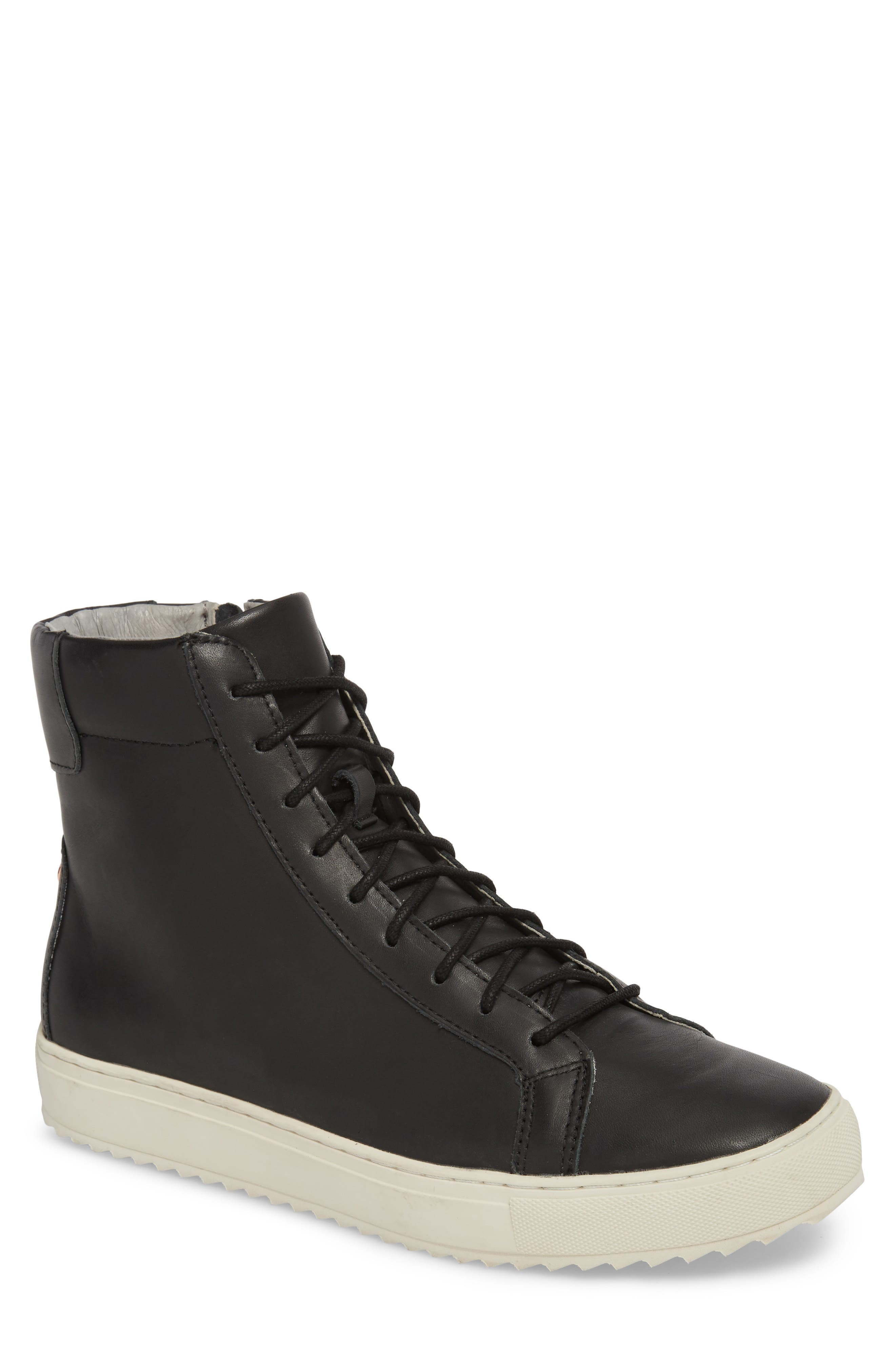 Logan Water Resistant High Top Sneaker,                             Main thumbnail 1, color,                             Kettle Leather