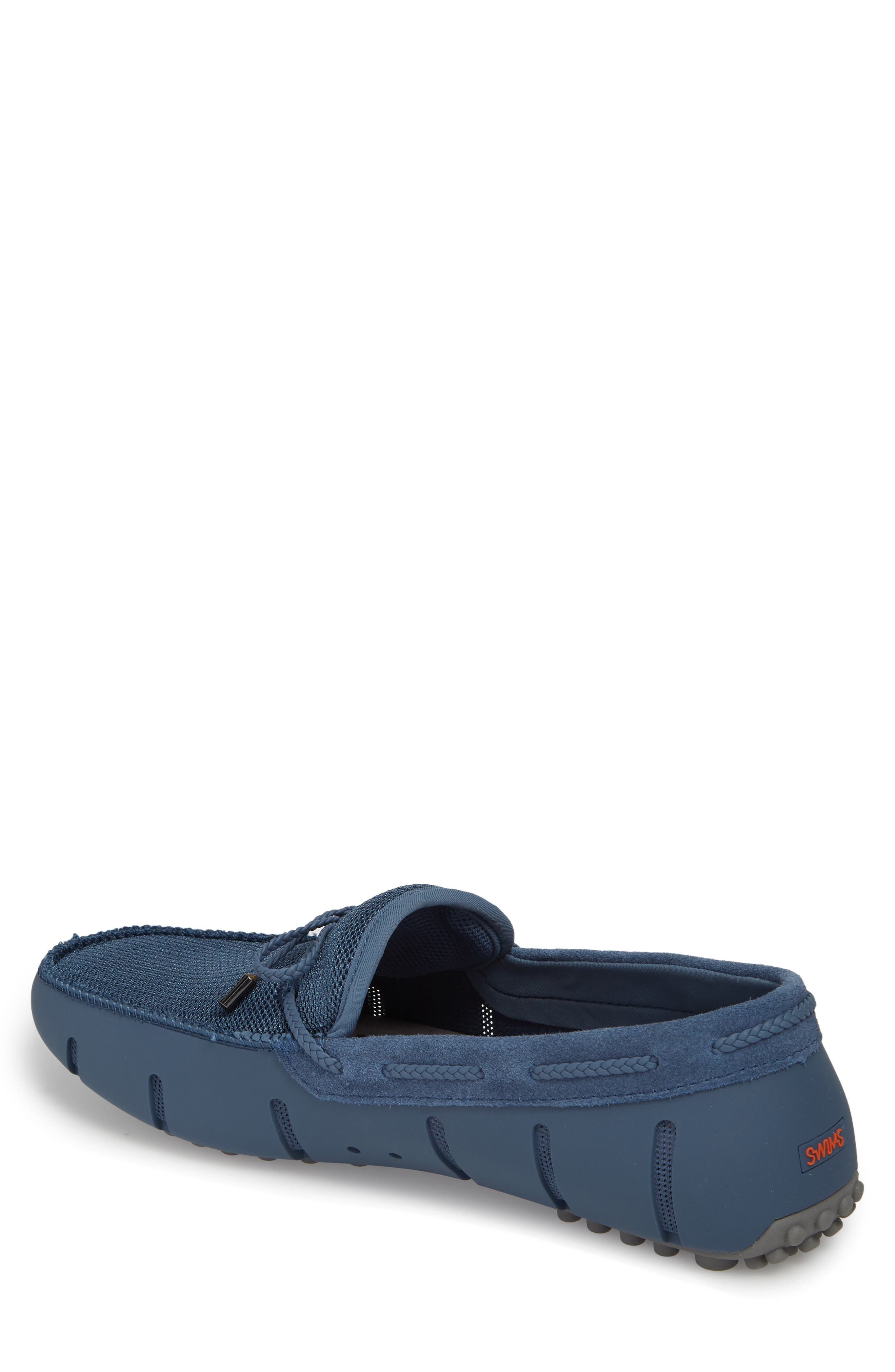 Washable Driving Loafer,                             Alternate thumbnail 2, color,                             Slate/ Grey Fabric