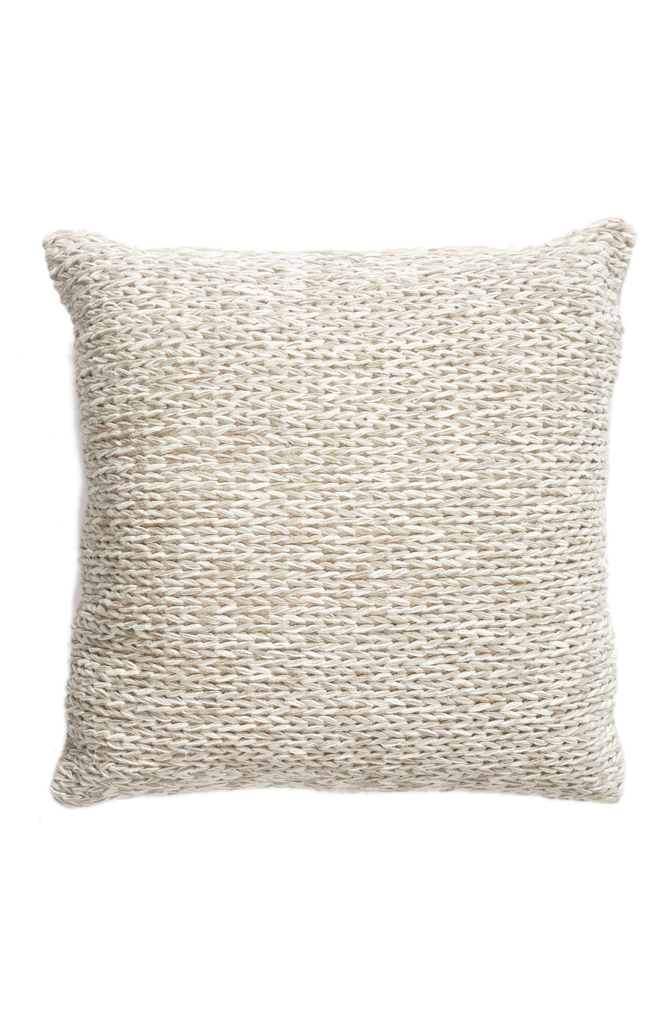 Knit Floor Pillow,                             Main thumbnail 1, color,                             Grey Owl