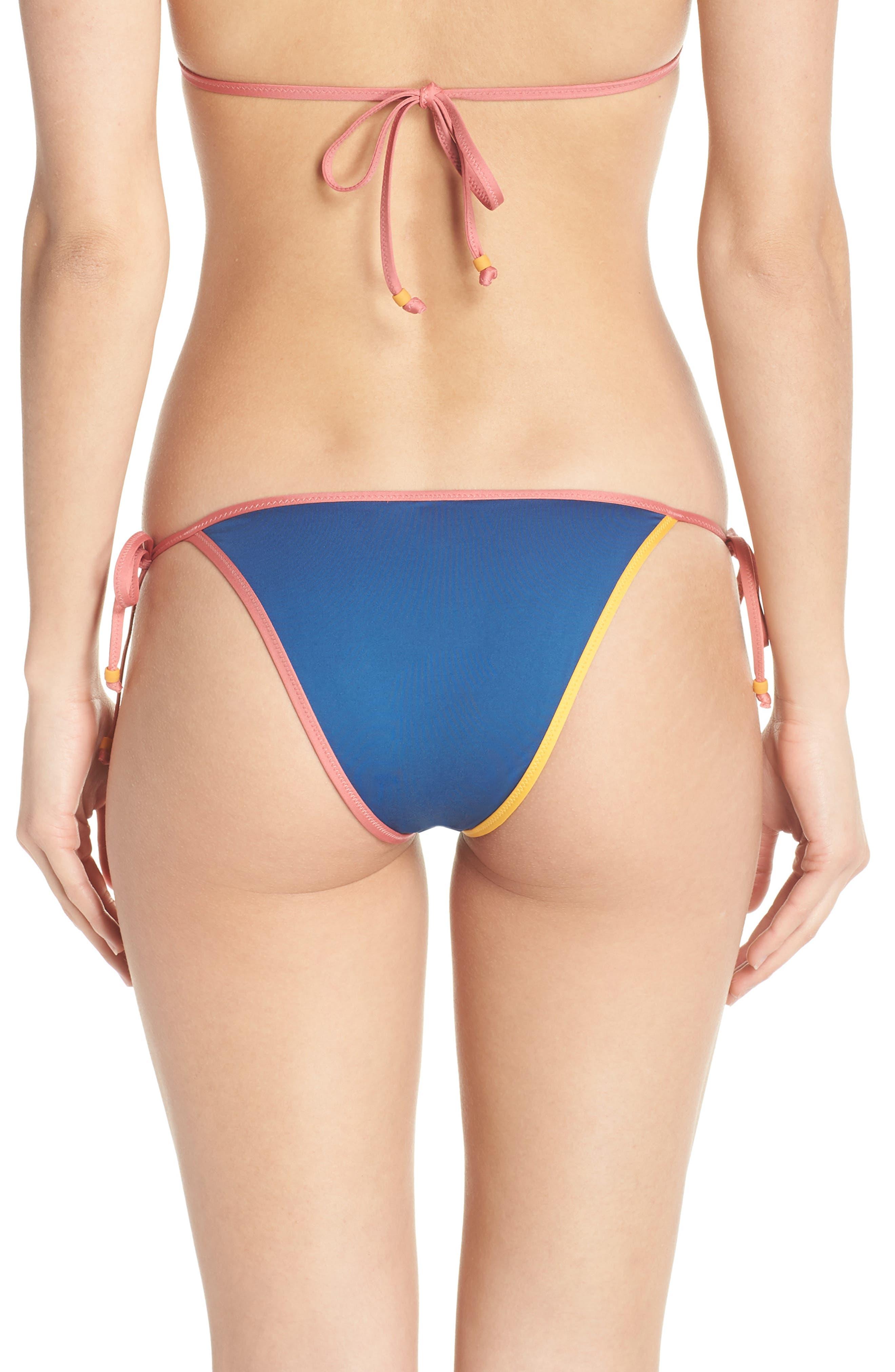 Playa Miami String Bikini Bottoms,                             Alternate thumbnail 2, color,                             Pacific Ocean Multi