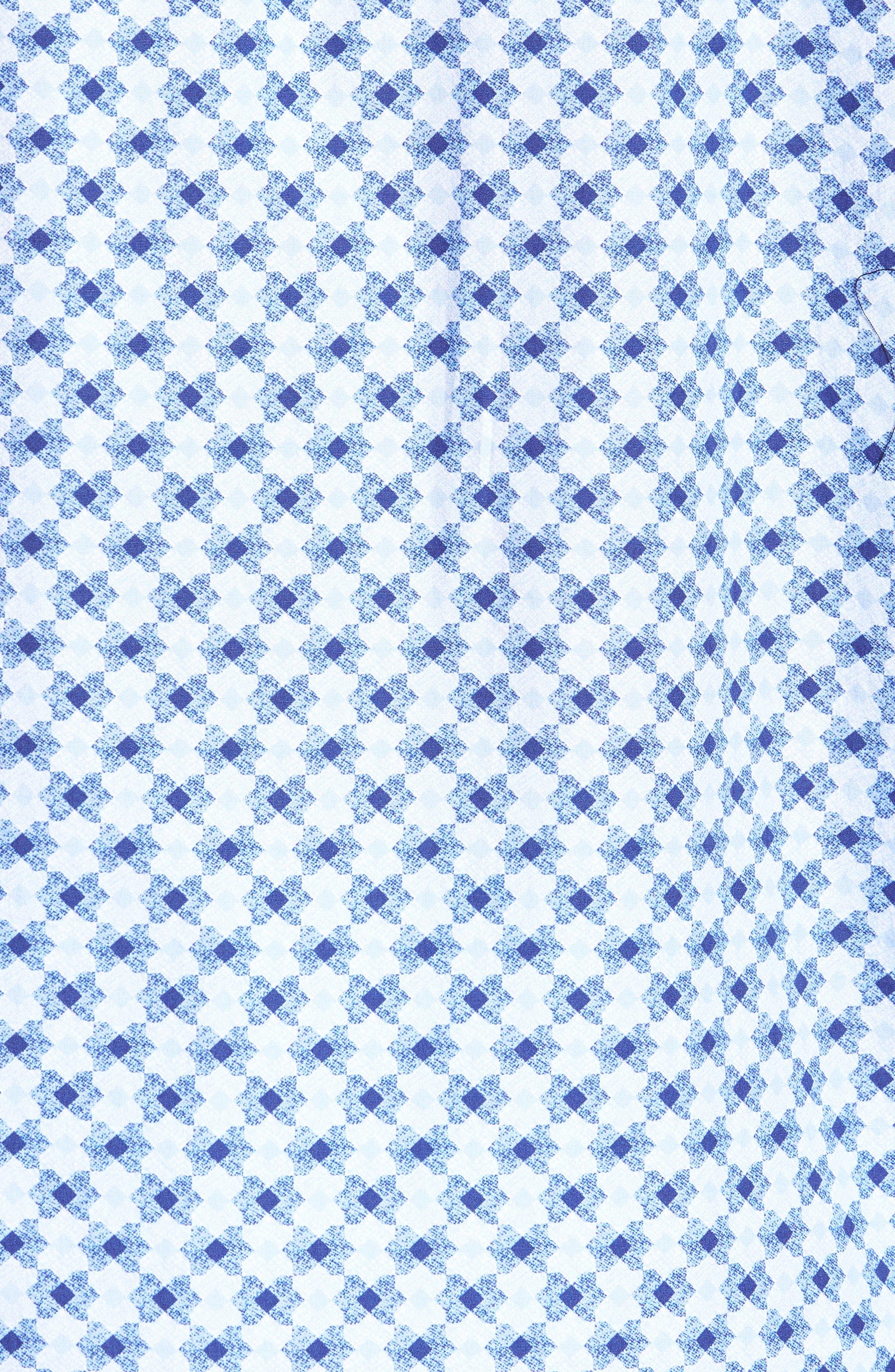 Classic Fit Geo Print Sport Shirt,                             Alternate thumbnail 5, color,                             Sky