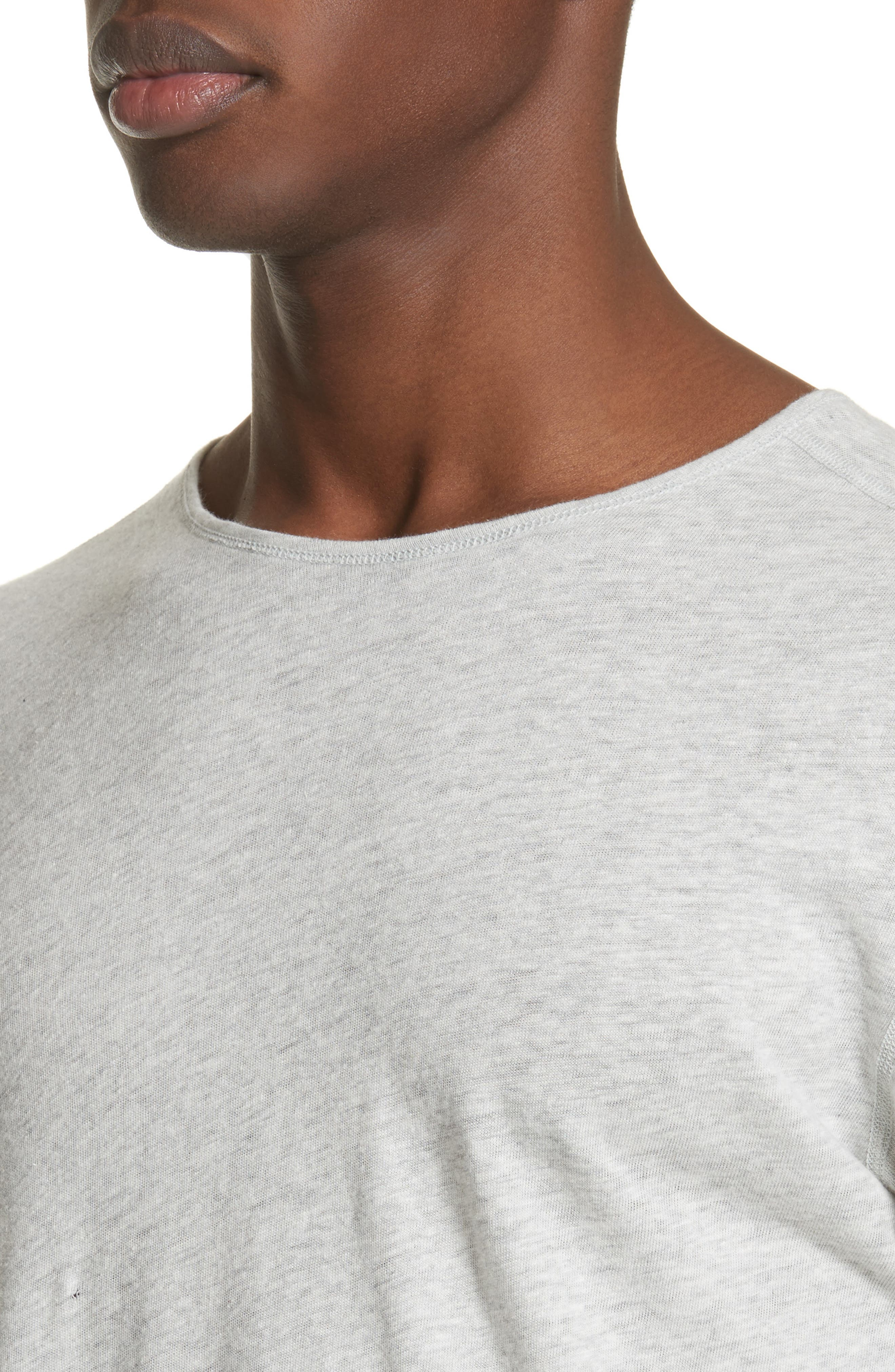 Linen Blend Jersey Long Sleeve T-Shirt,                             Alternate thumbnail 6, color,                             Natural