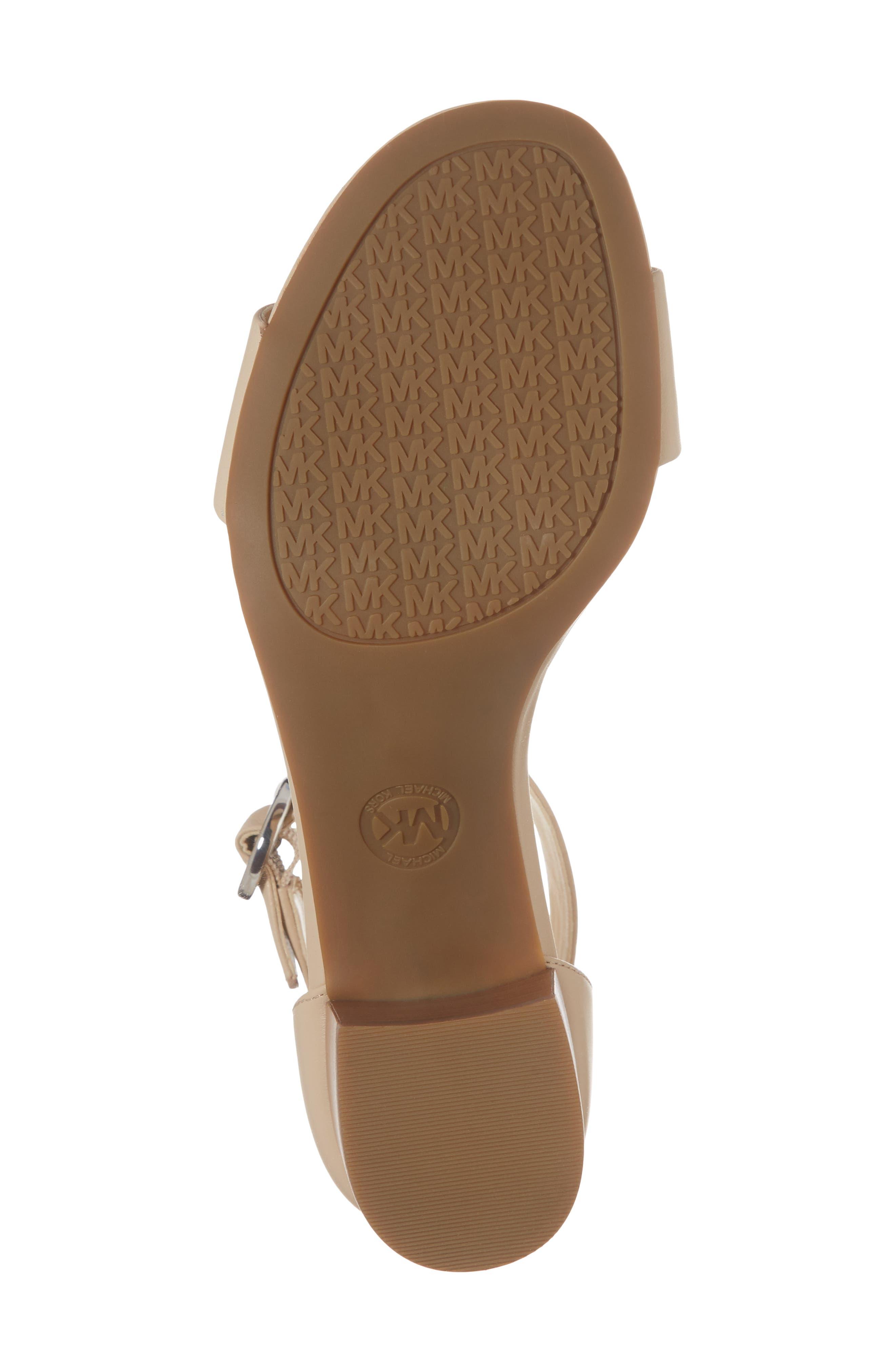 Lena Block Heel Sandal,                             Alternate thumbnail 6, color,                             Bisque