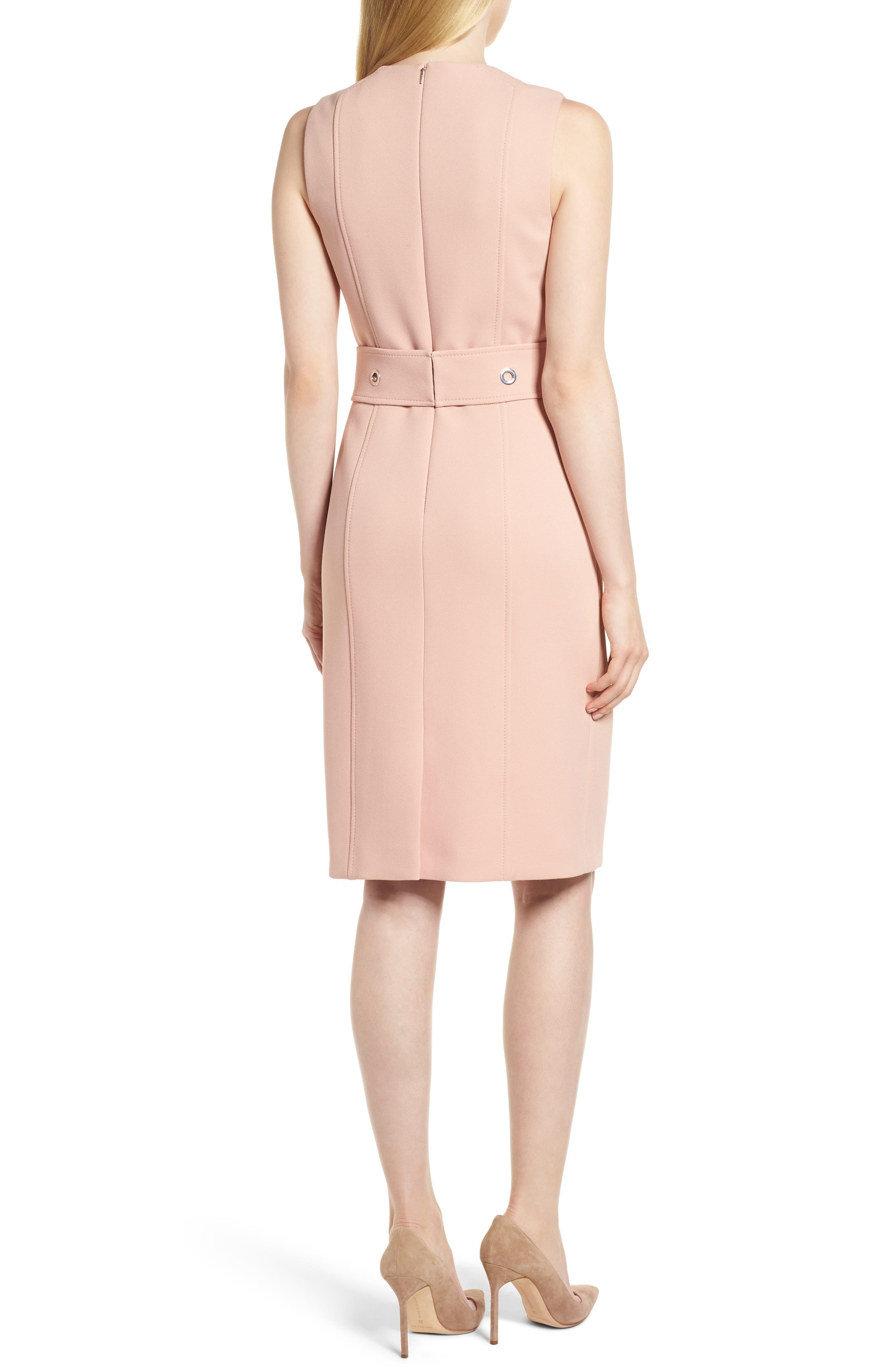 Duleama Compact Twill Dress,                             Alternate thumbnail 2, color,                             Blush