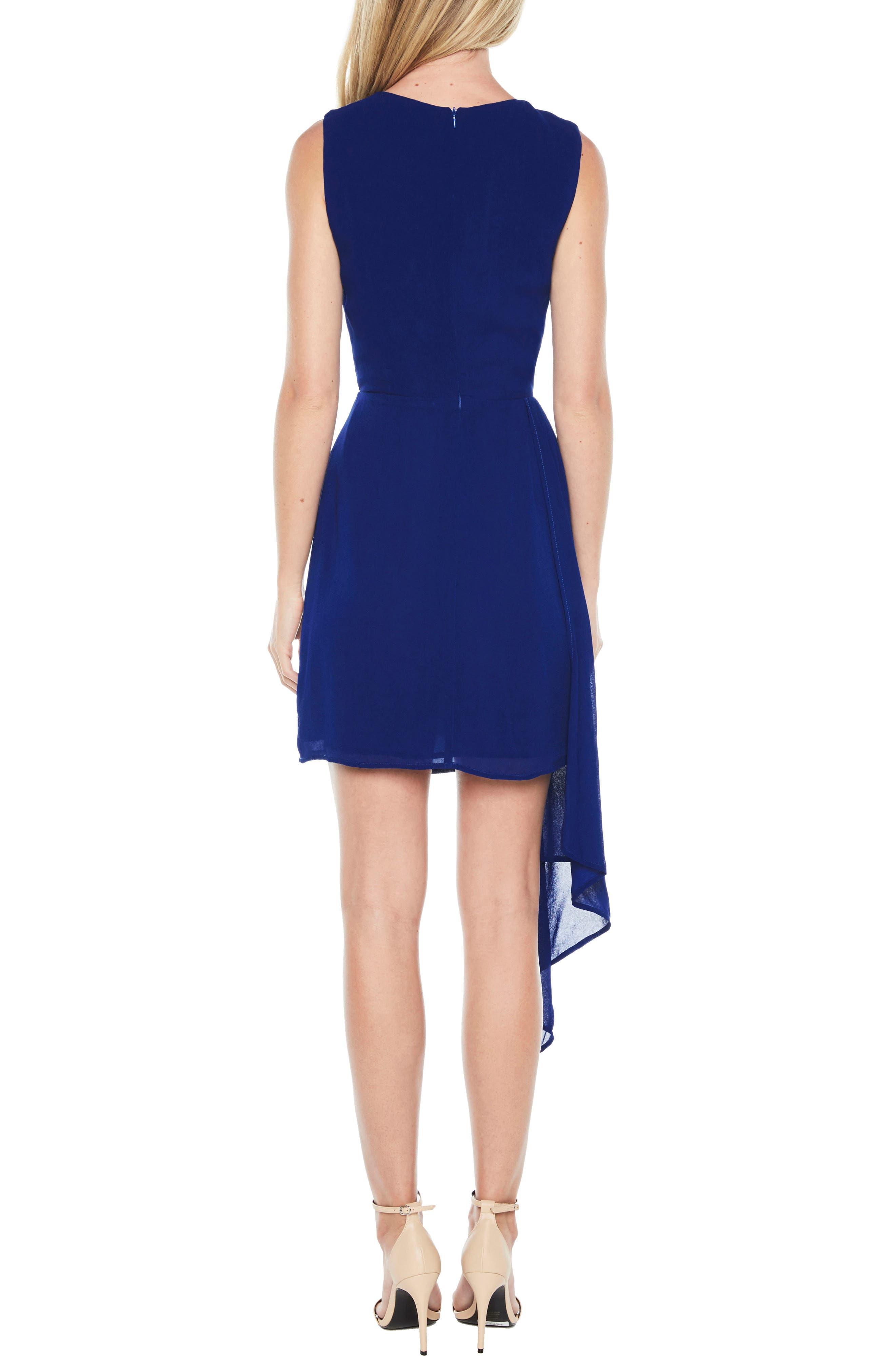 Stilla Asymmetric Hem Dress,                             Alternate thumbnail 2, color,                             Cobalt