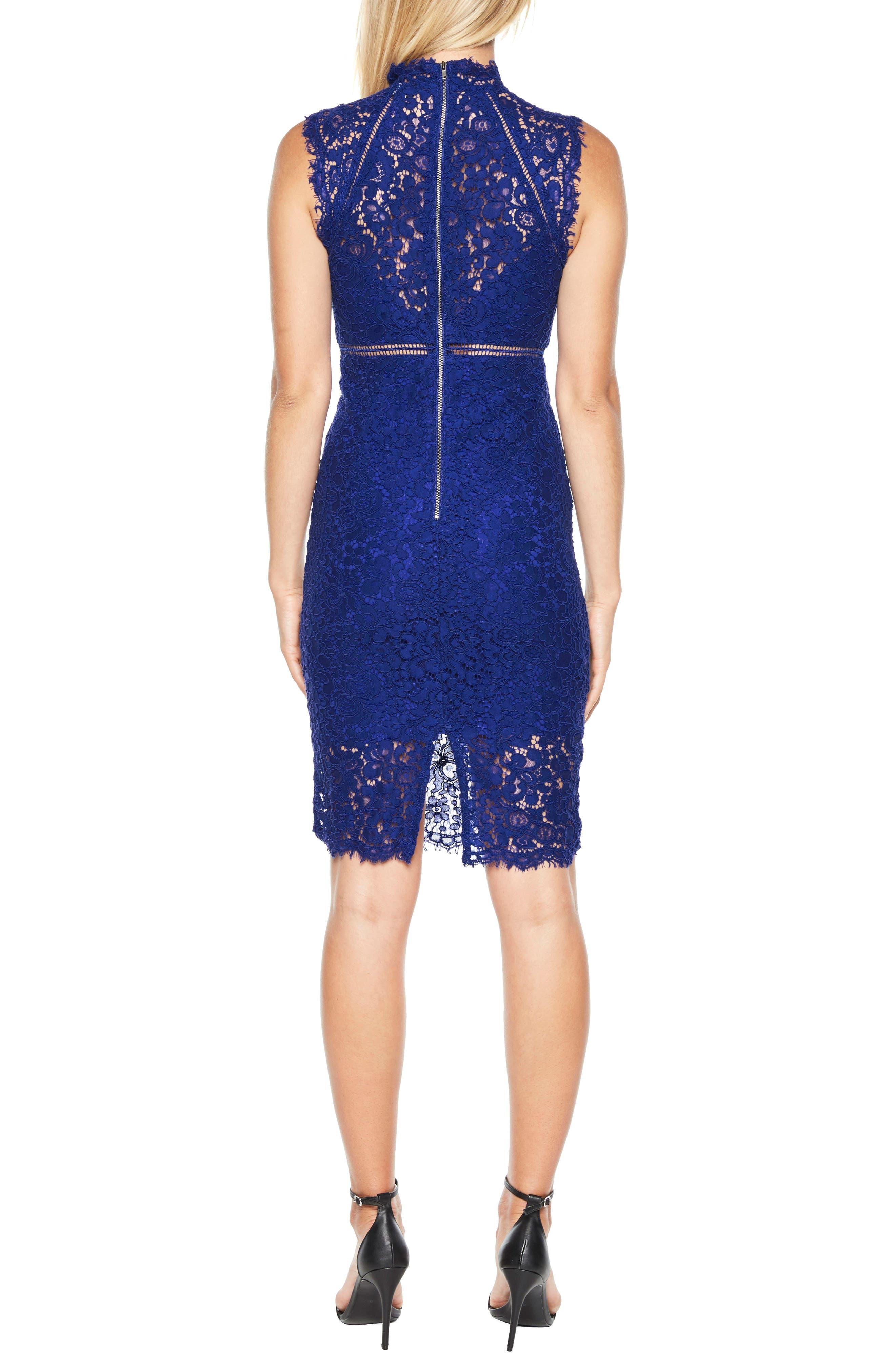 Alternate Image 2  - Bardot Lace Sheath Dress