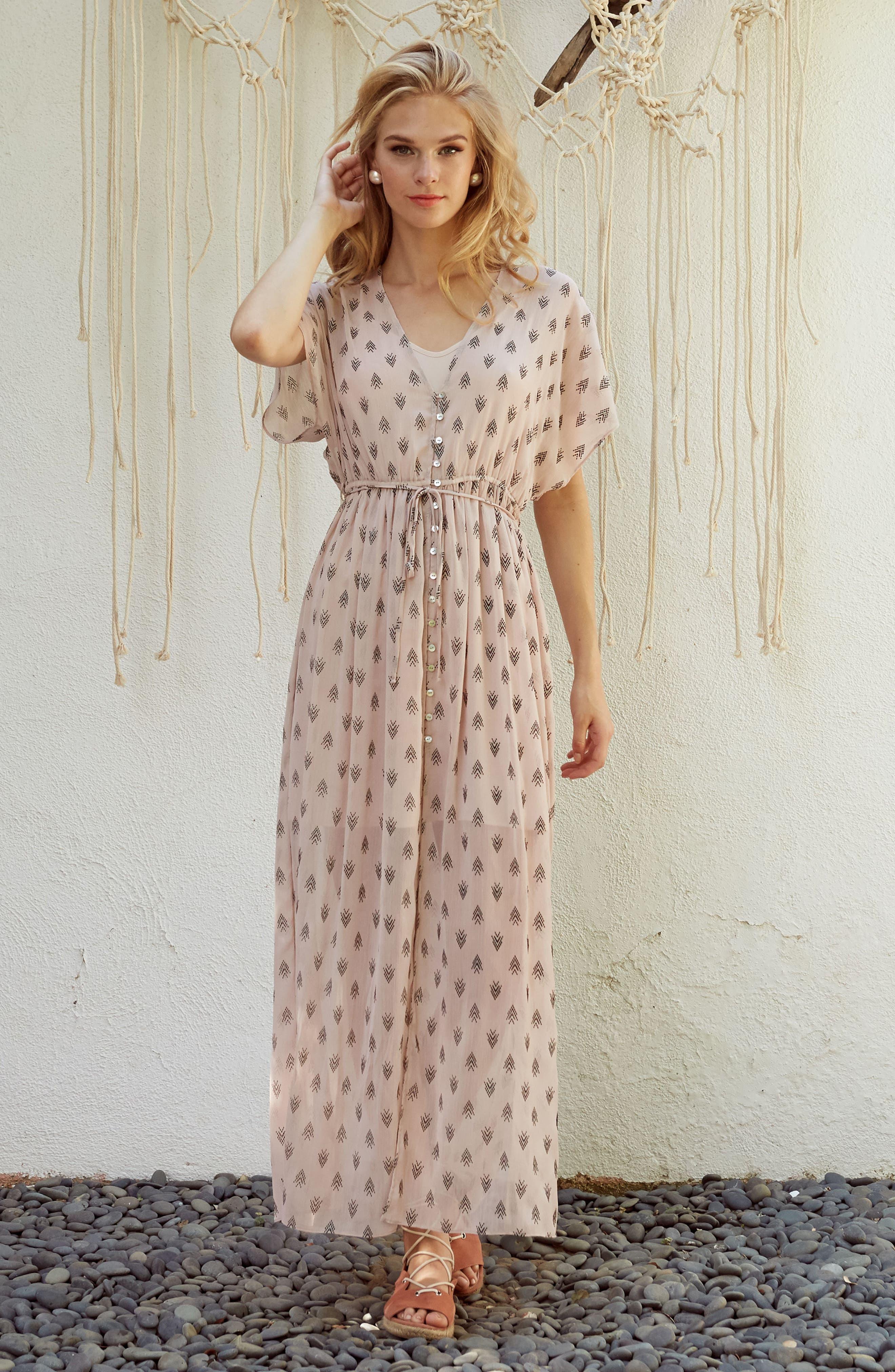 Brooke Slit Hem Dress,                             Alternate thumbnail 2, color,                             Blush