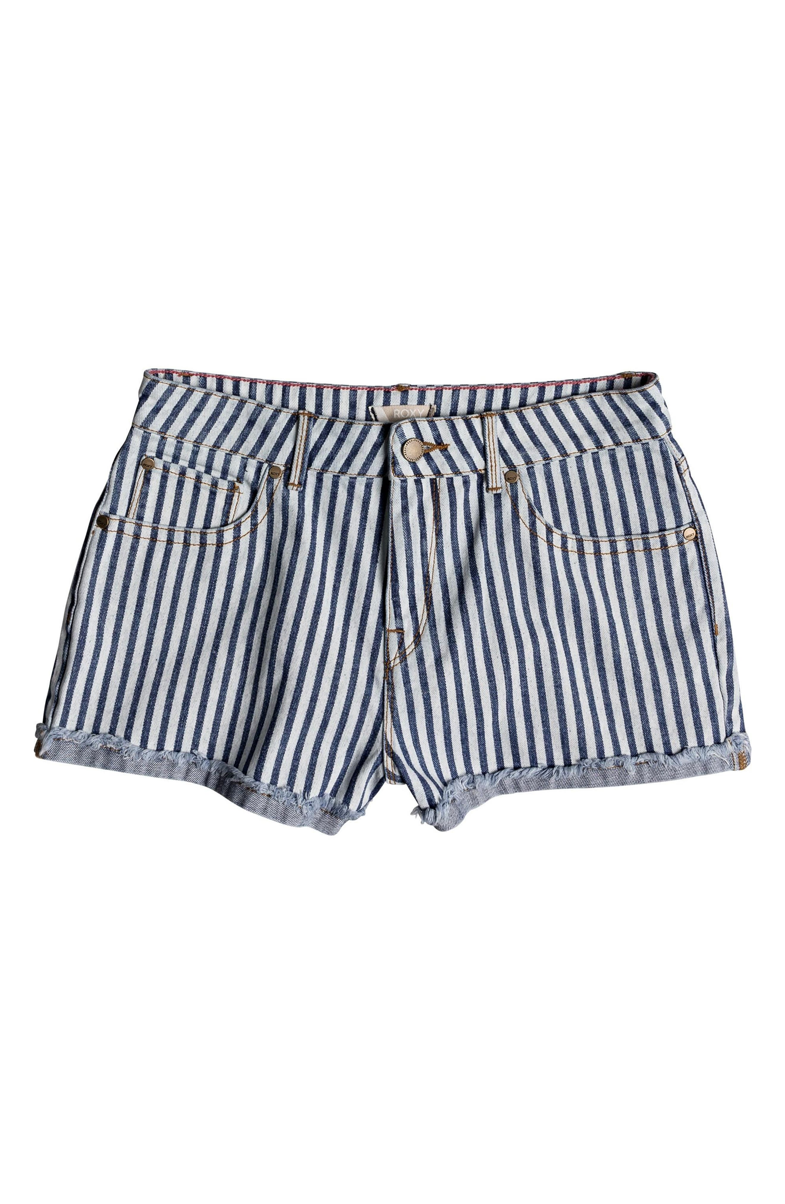 Holbrook Stripe Cotton Shorts,                             Alternate thumbnail 4, color,                             Medium Blue La Vague Stripe