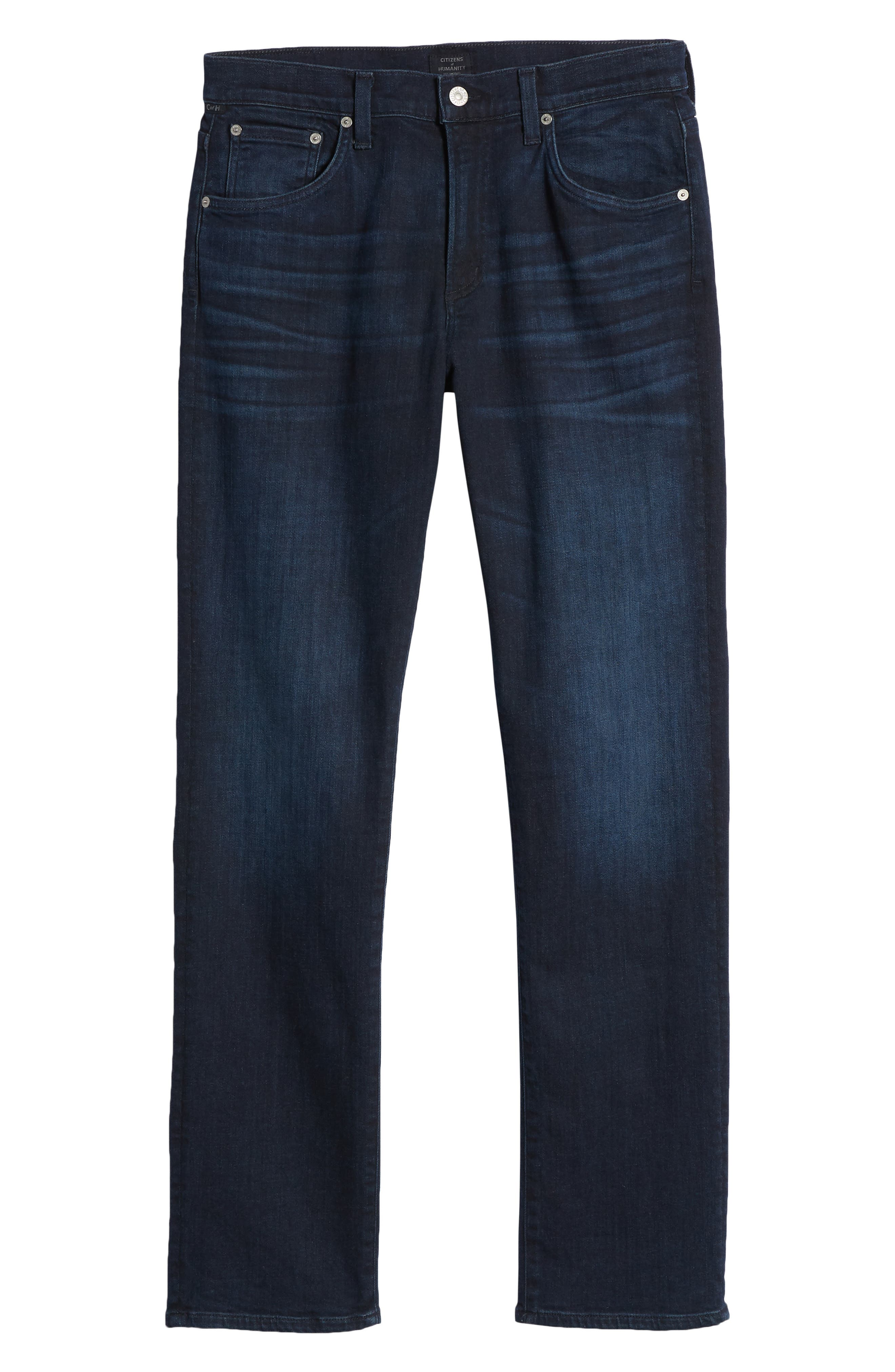 Gage Slim Straight Leg Jeans,                             Alternate thumbnail 6, color,                             Geary