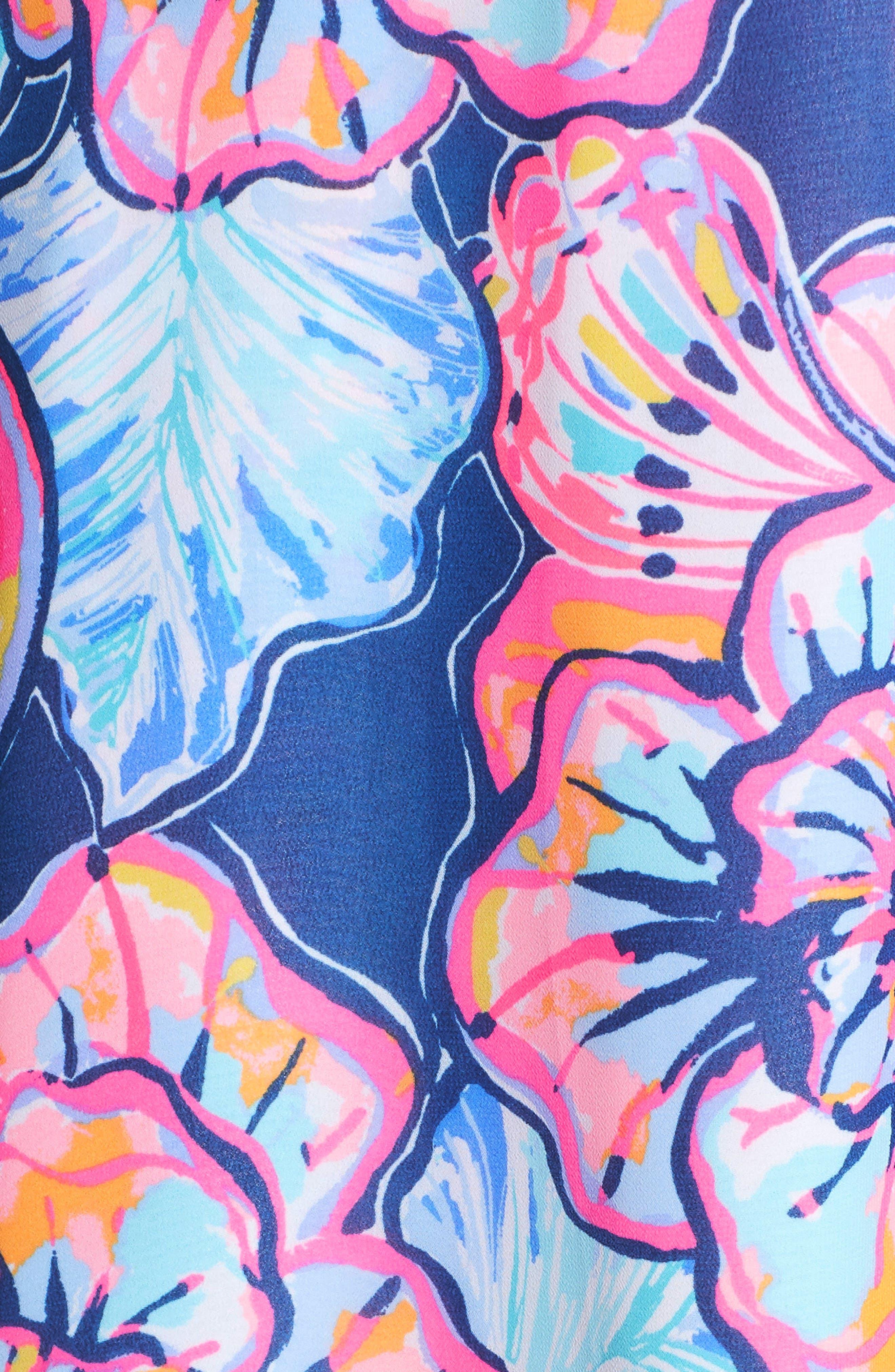 Marianna Asymmetric Midi Wrap Dress,                             Alternate thumbnail 5, color,                             Nautical Navy