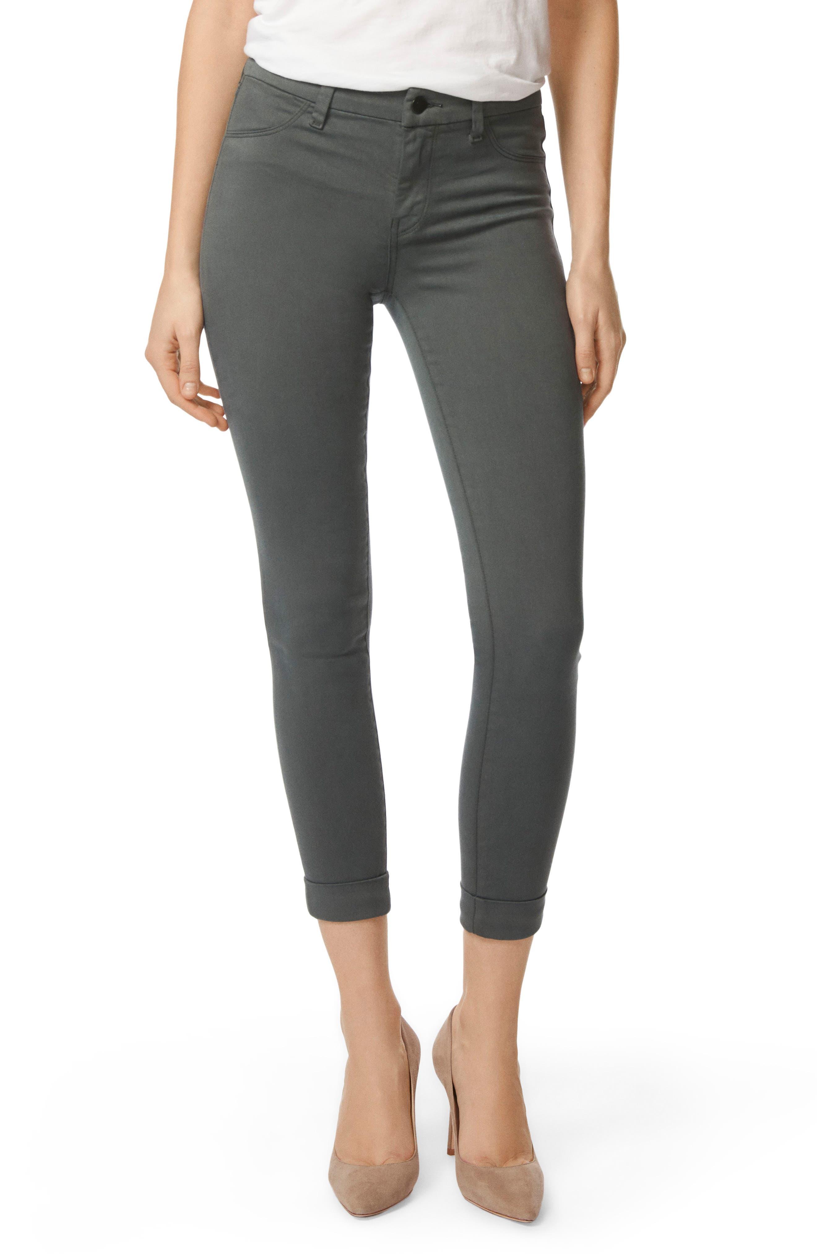 Anja Crop Skinny Jeans - Green Size 32
