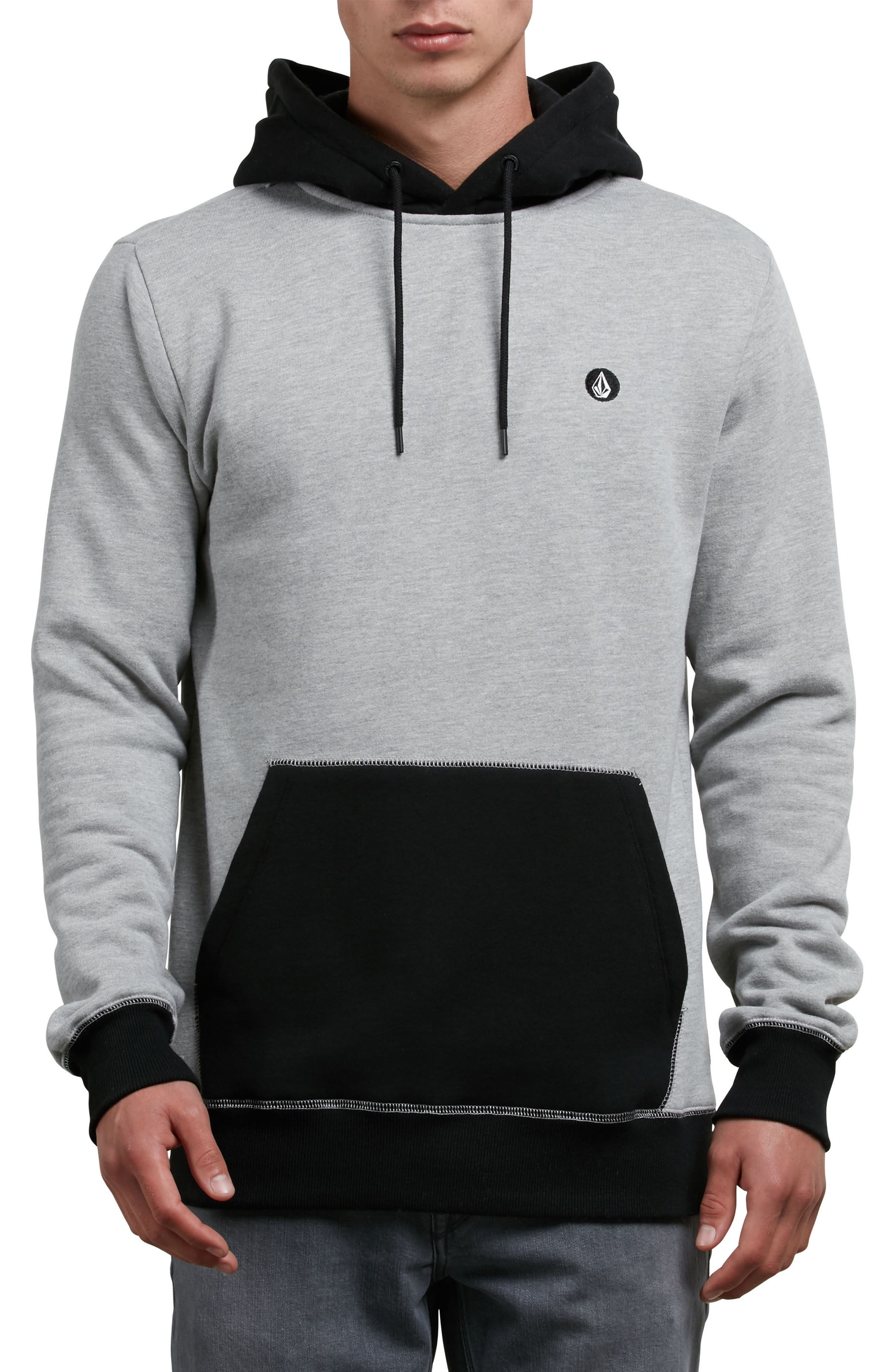 Single Stone Division Colorblock Hoodie,                             Main thumbnail 1, color,                             Grey