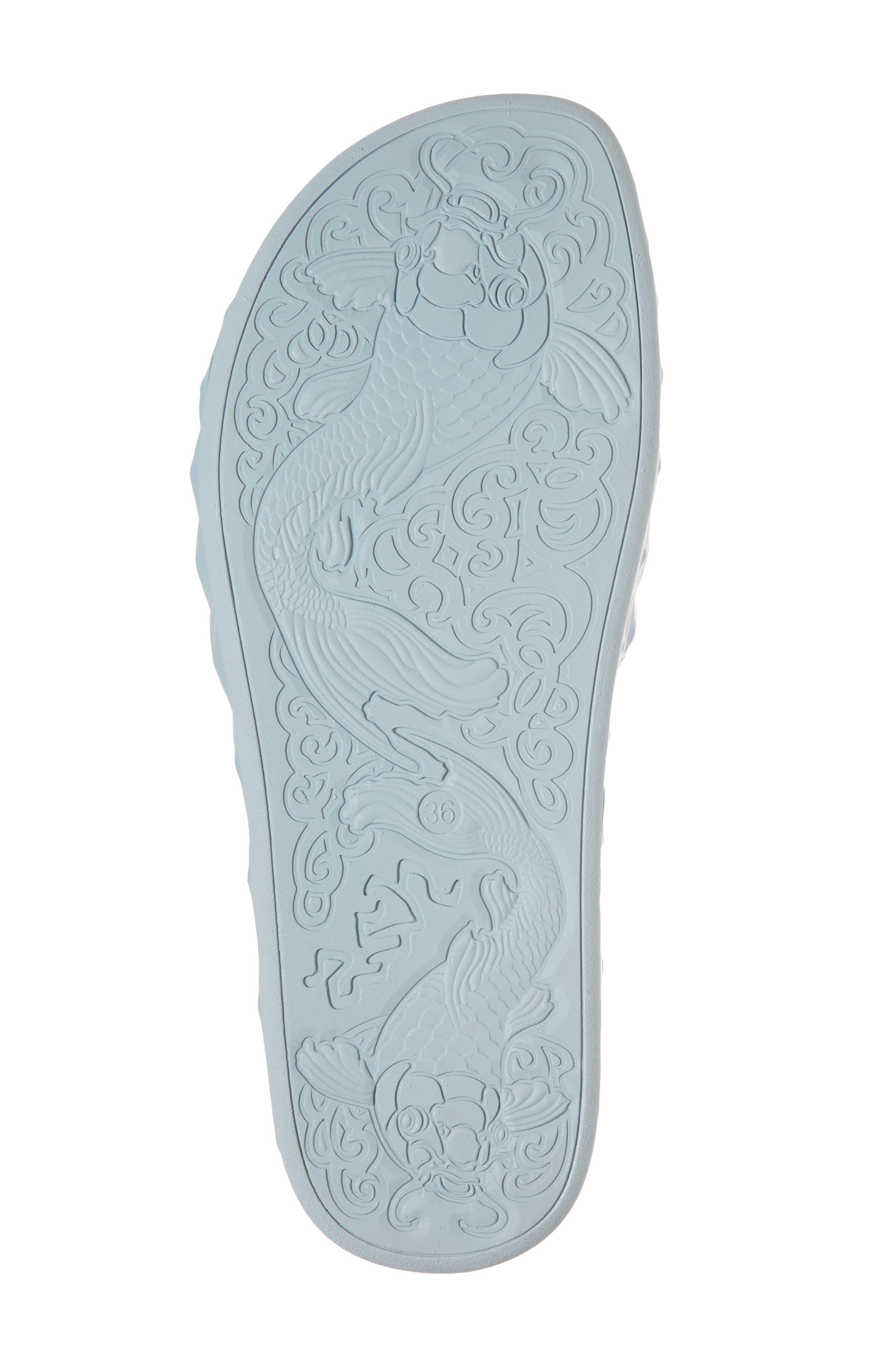Splash Geo Slide Sandal,                             Alternate thumbnail 6, color,                             Ice Blue