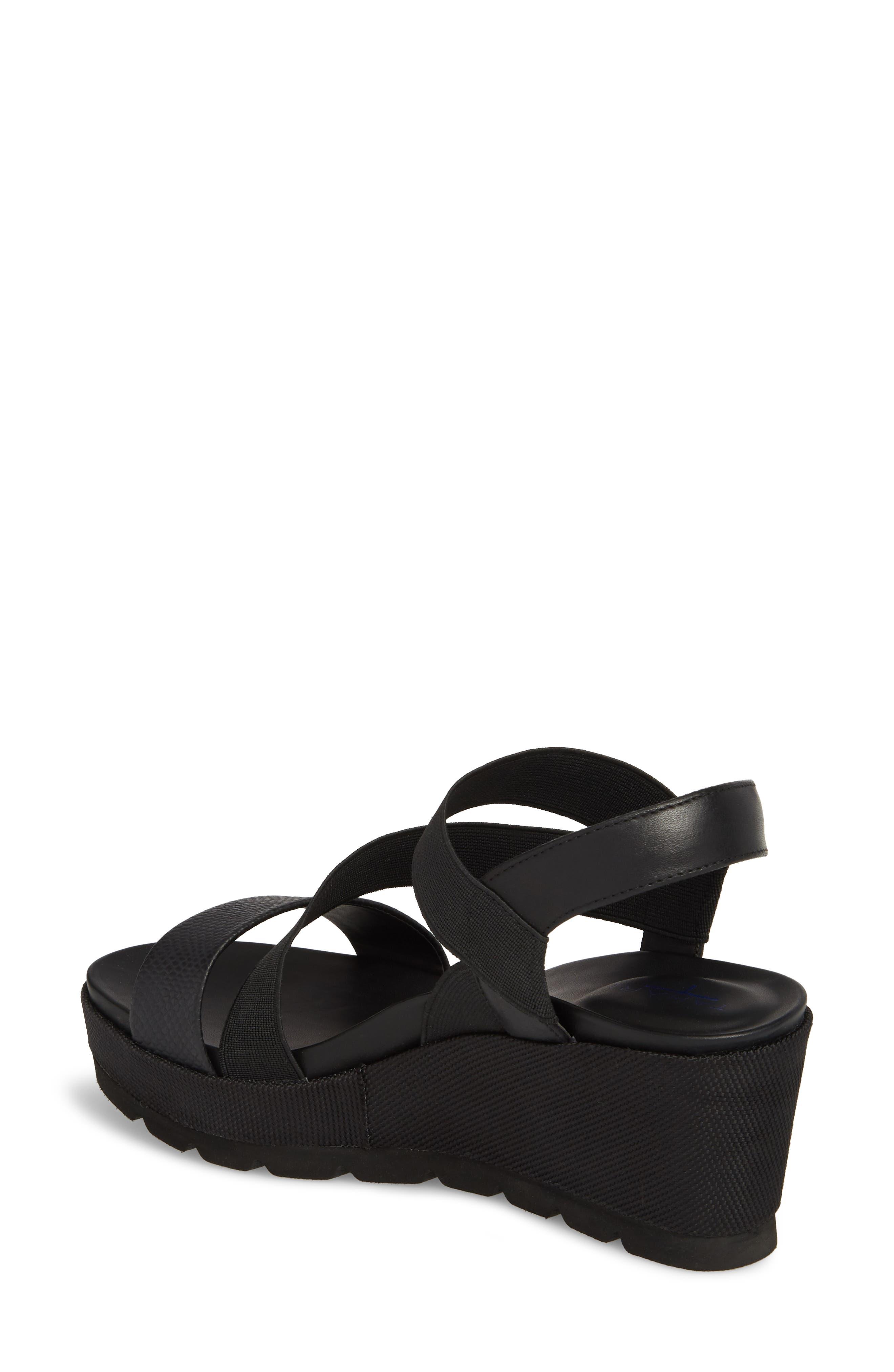 TT-Gabel Sandal,                             Alternate thumbnail 2, color,                             Black Leather