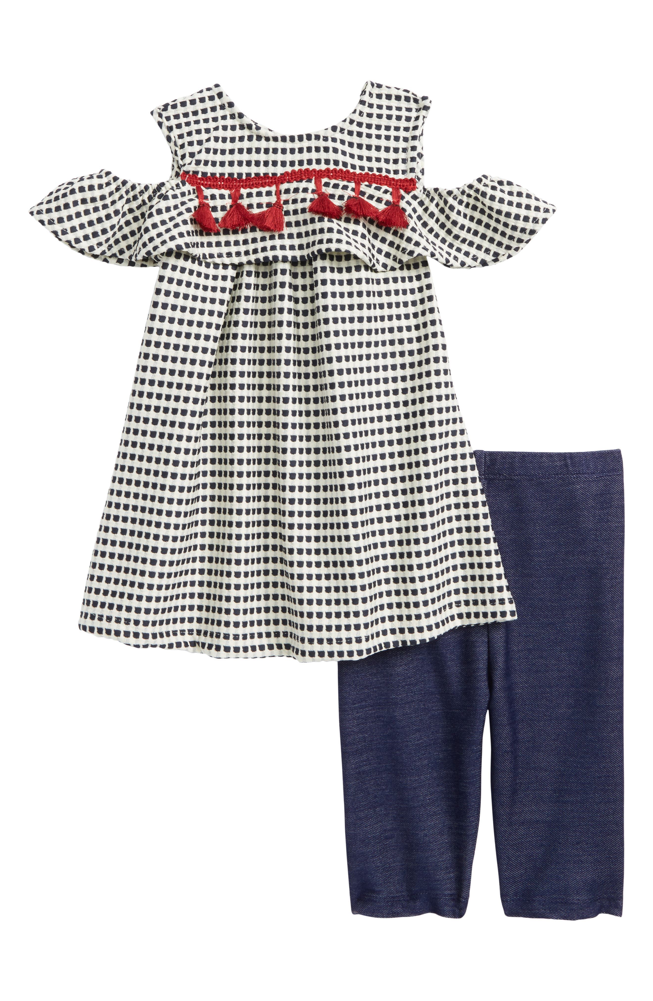 Pippa & Julie Cold Shoulder Tunic & Leggings Set (Baby Girls)