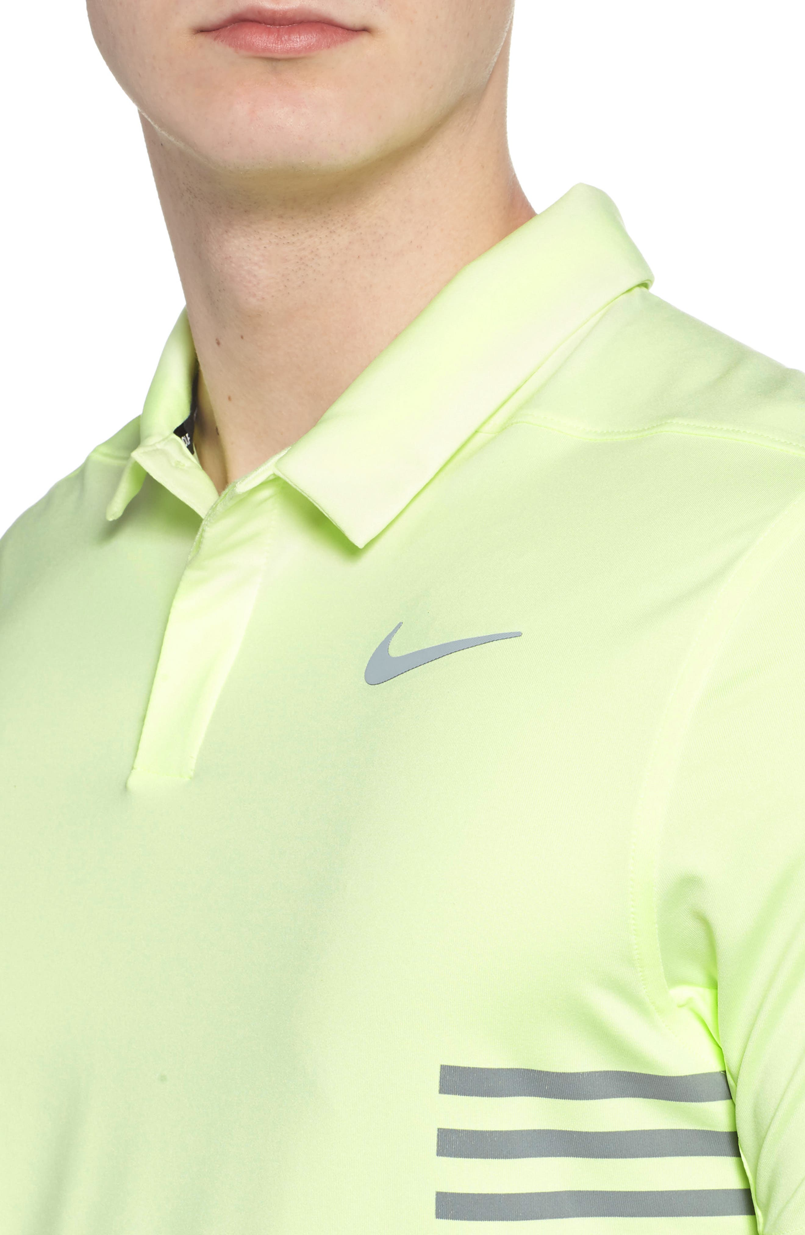 Dry Polo Shirt,                             Alternate thumbnail 4, color,                             Barely Volt/ Cool Grey/ Silver