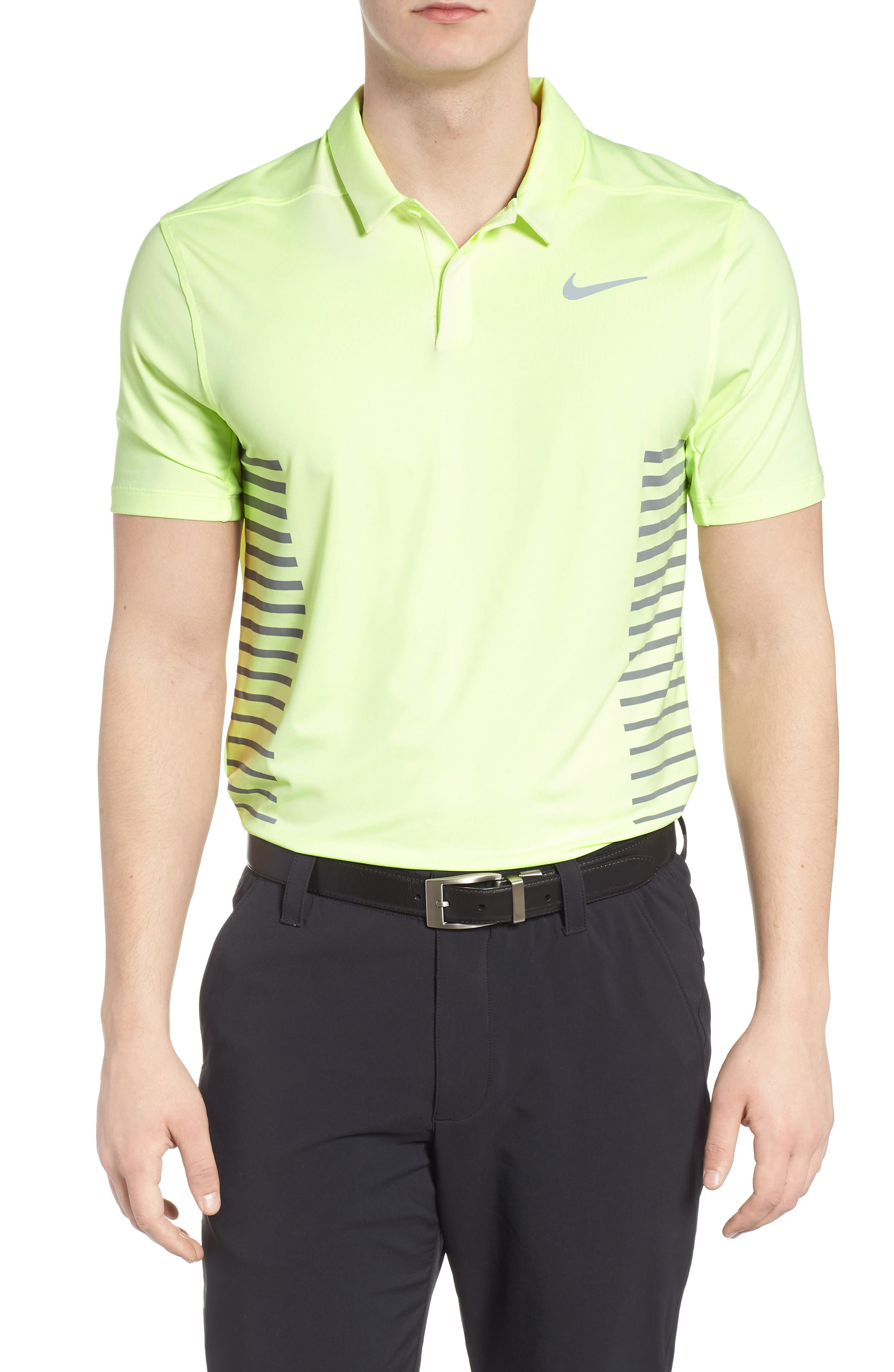 Dry Polo Shirt,                         Main,                         color, Barely Volt/ Cool Grey/ Silver