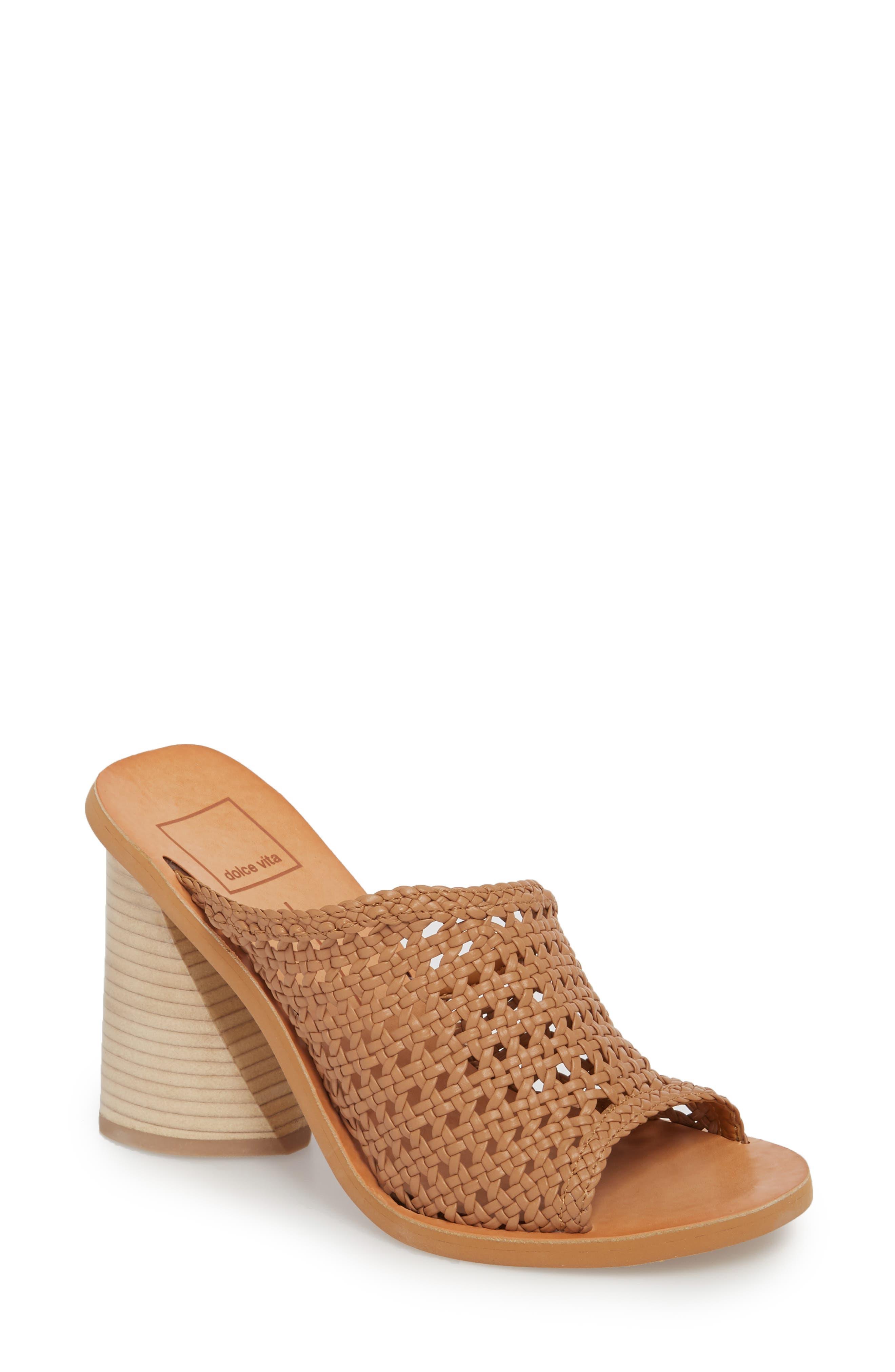 Anton Woven Sandal,                         Main,                         color, Caramel Woven