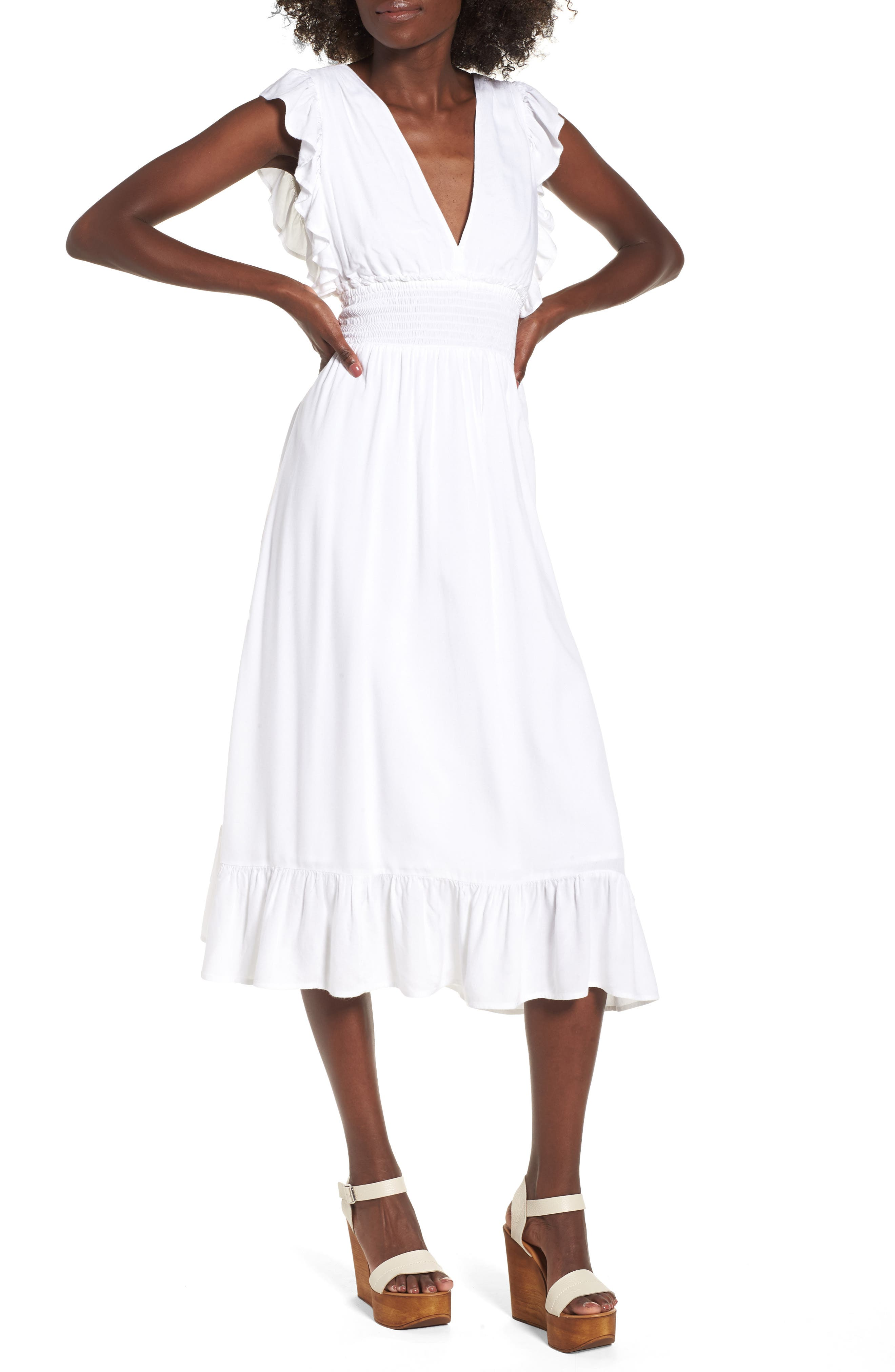 Dress for Women, Evening Cocktail Party On Sale, White, Cotton, 2017, IT 44 - US 6 - F 40 Tory Burch