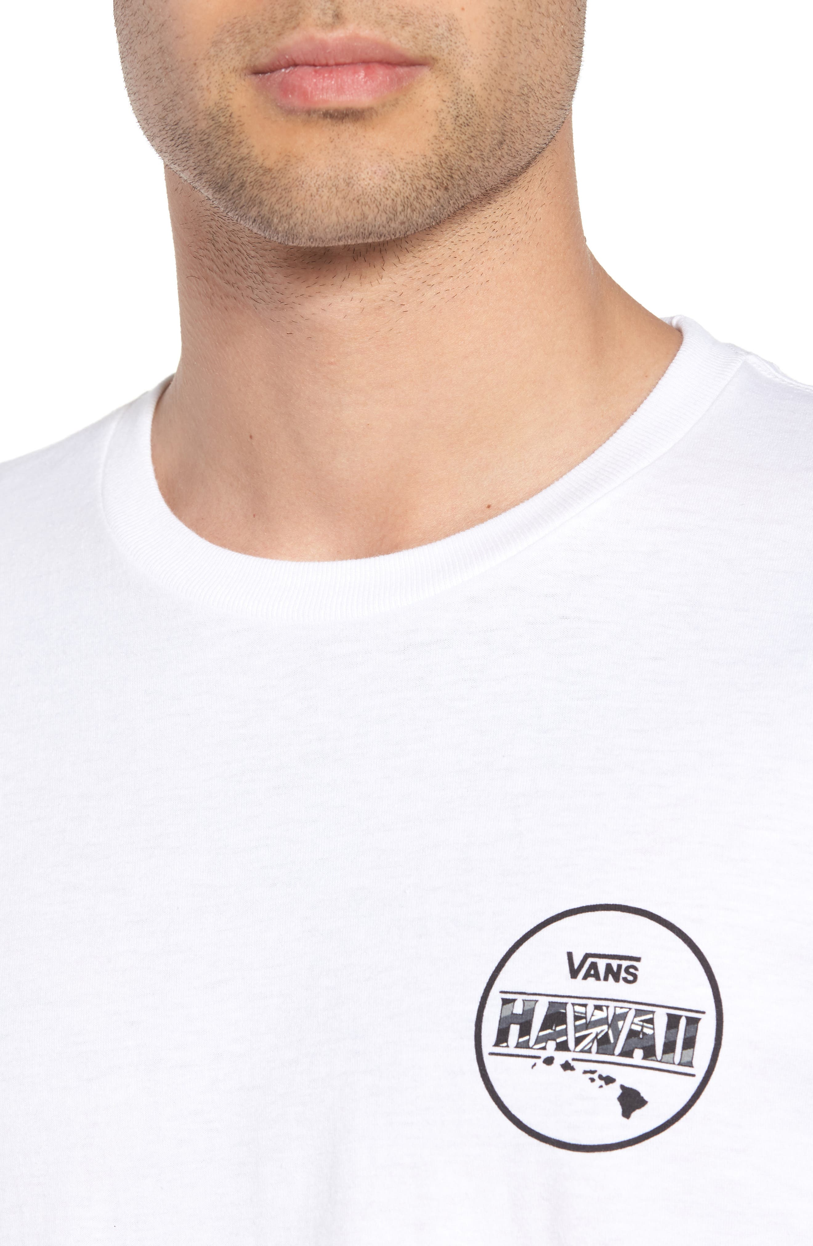 Makai Fill II T-Shirt,                             Alternate thumbnail 4, color,                             White/ Hi Flyin