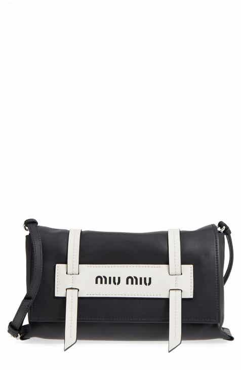 0bd13755f7c0 Miu Miu Small Grace Calfskin Shoulder Bag