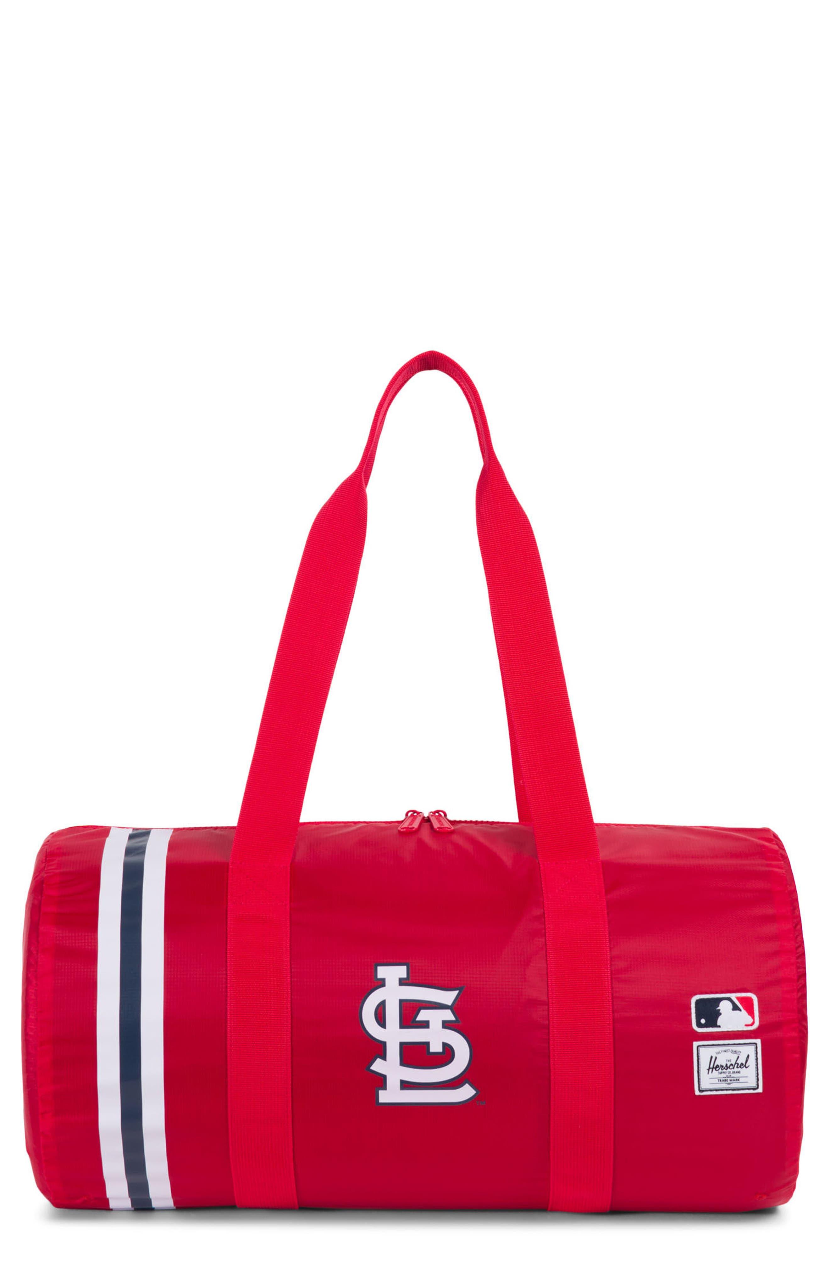 52bd3efa9fab Herschel Supply Co. Packable - Mlb National League Duffel Bag - Red In St  Louis