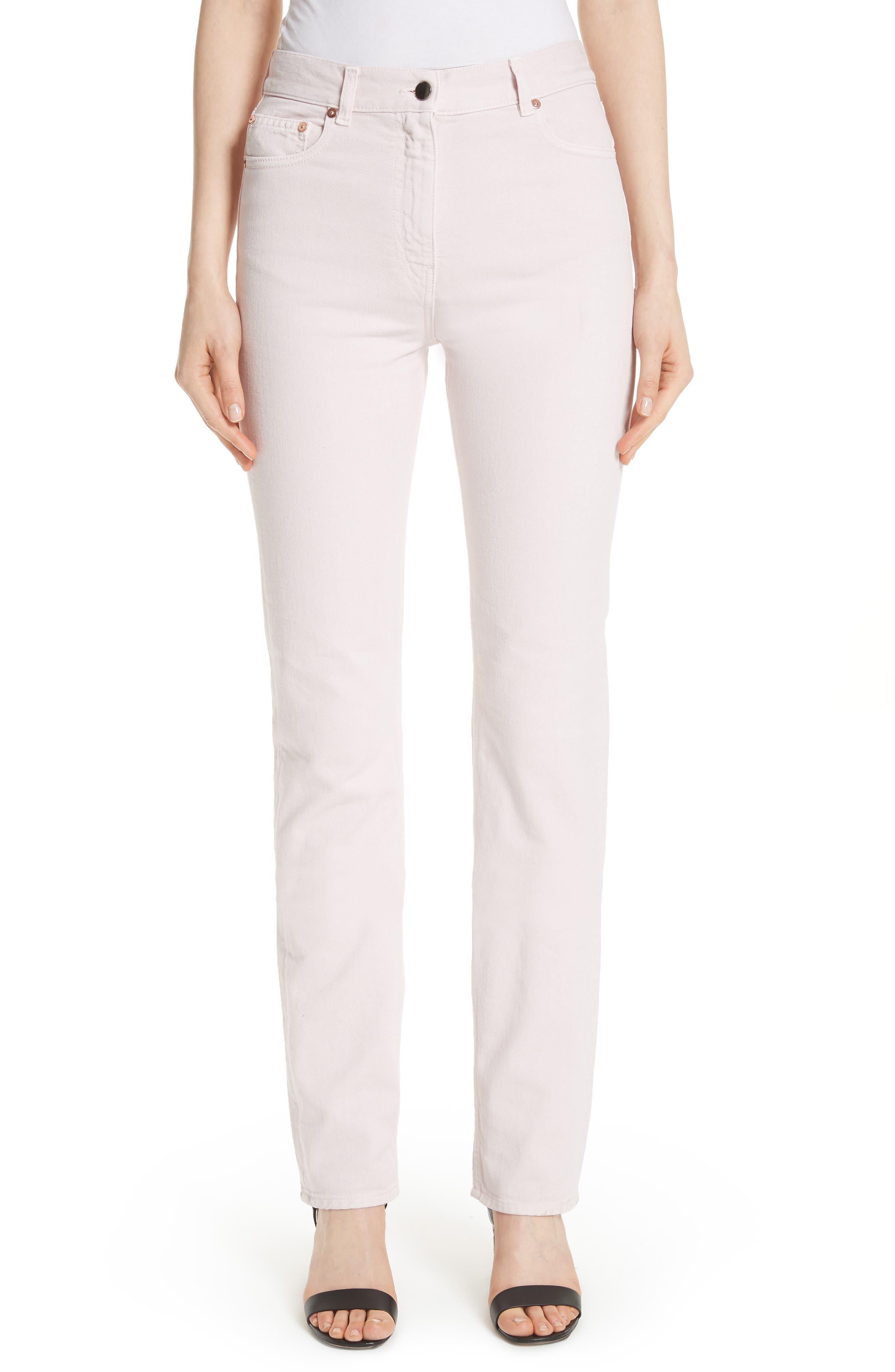 Straight Leg Jeans,                             Main thumbnail 1, color,                             Lilac