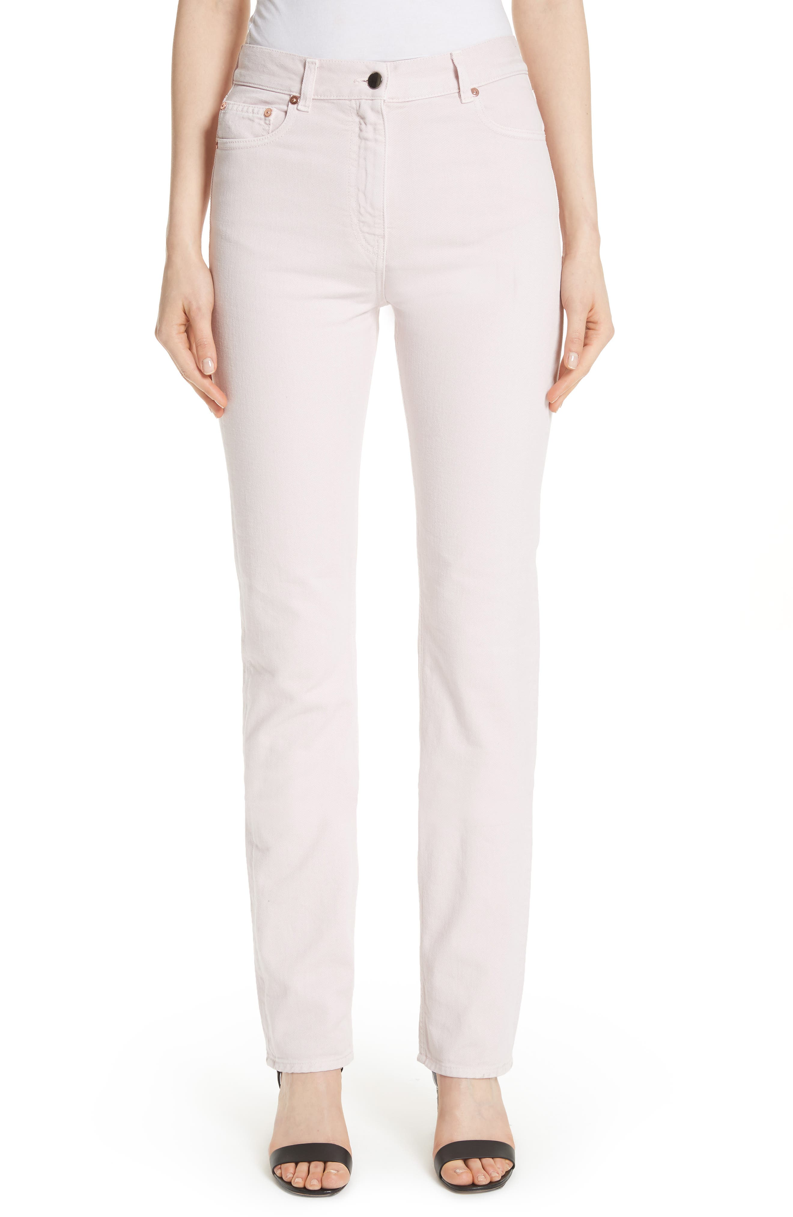 Straight Leg Jeans,                         Main,                         color, Lilac
