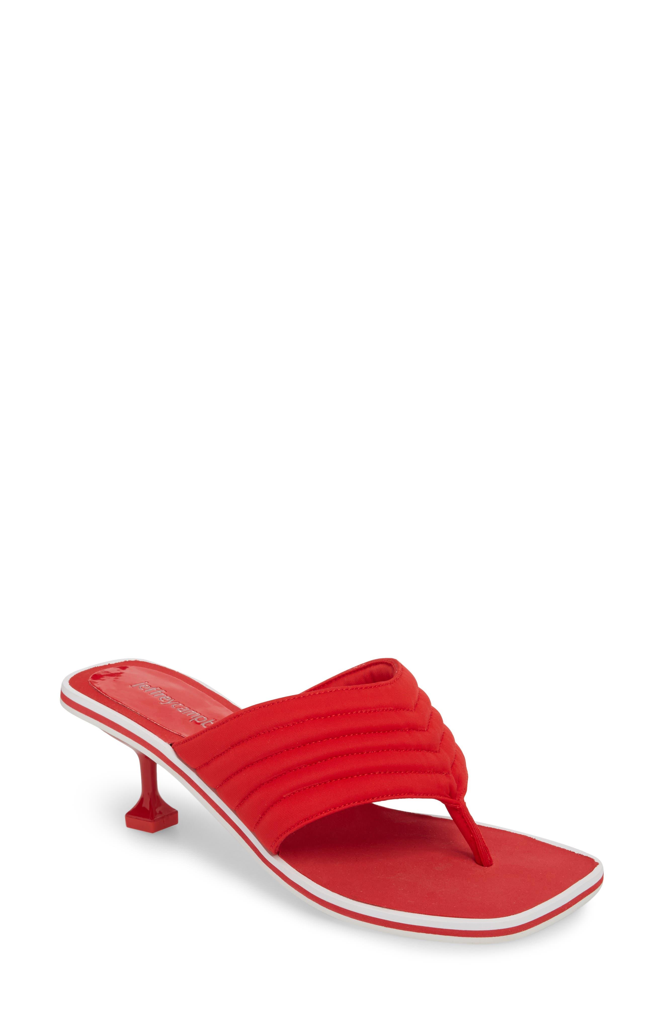 Overtime Sandal,                             Main thumbnail 1, color,                             Red Neorprene