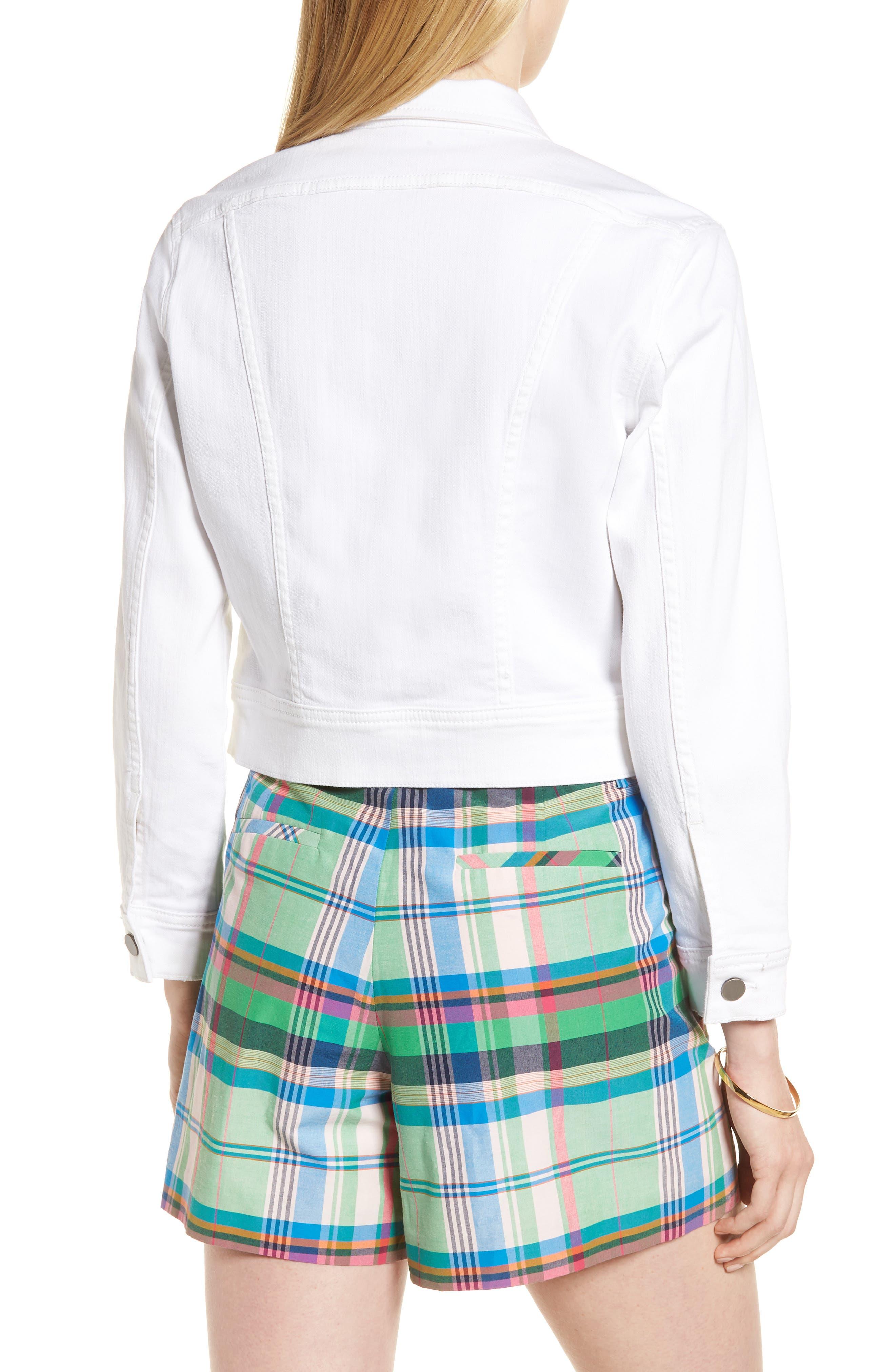 White Denim Jacket,                             Alternate thumbnail 2, color,                             White