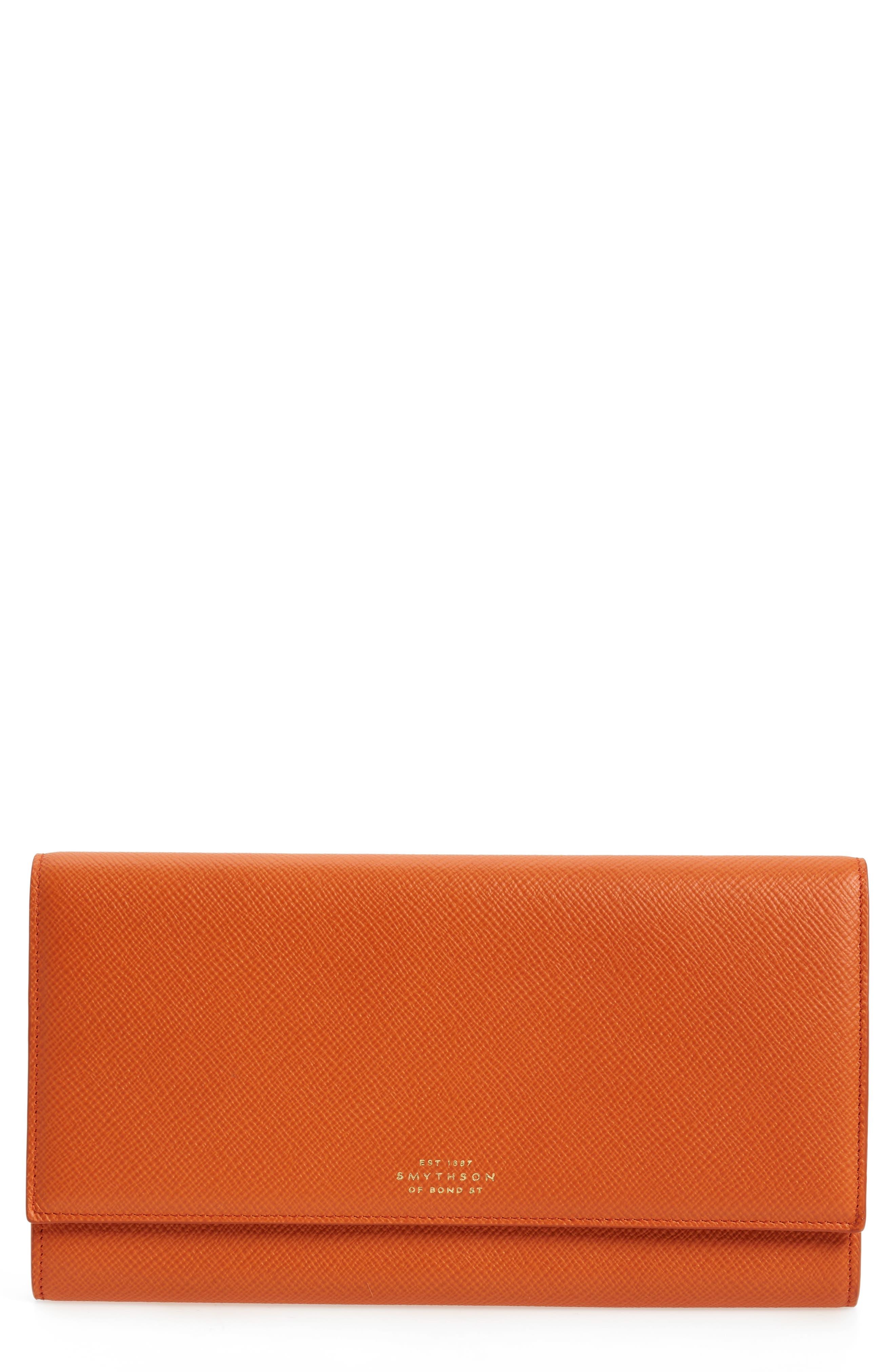 Smythson Panama Marshall Calfskin Leather Travel Wallet