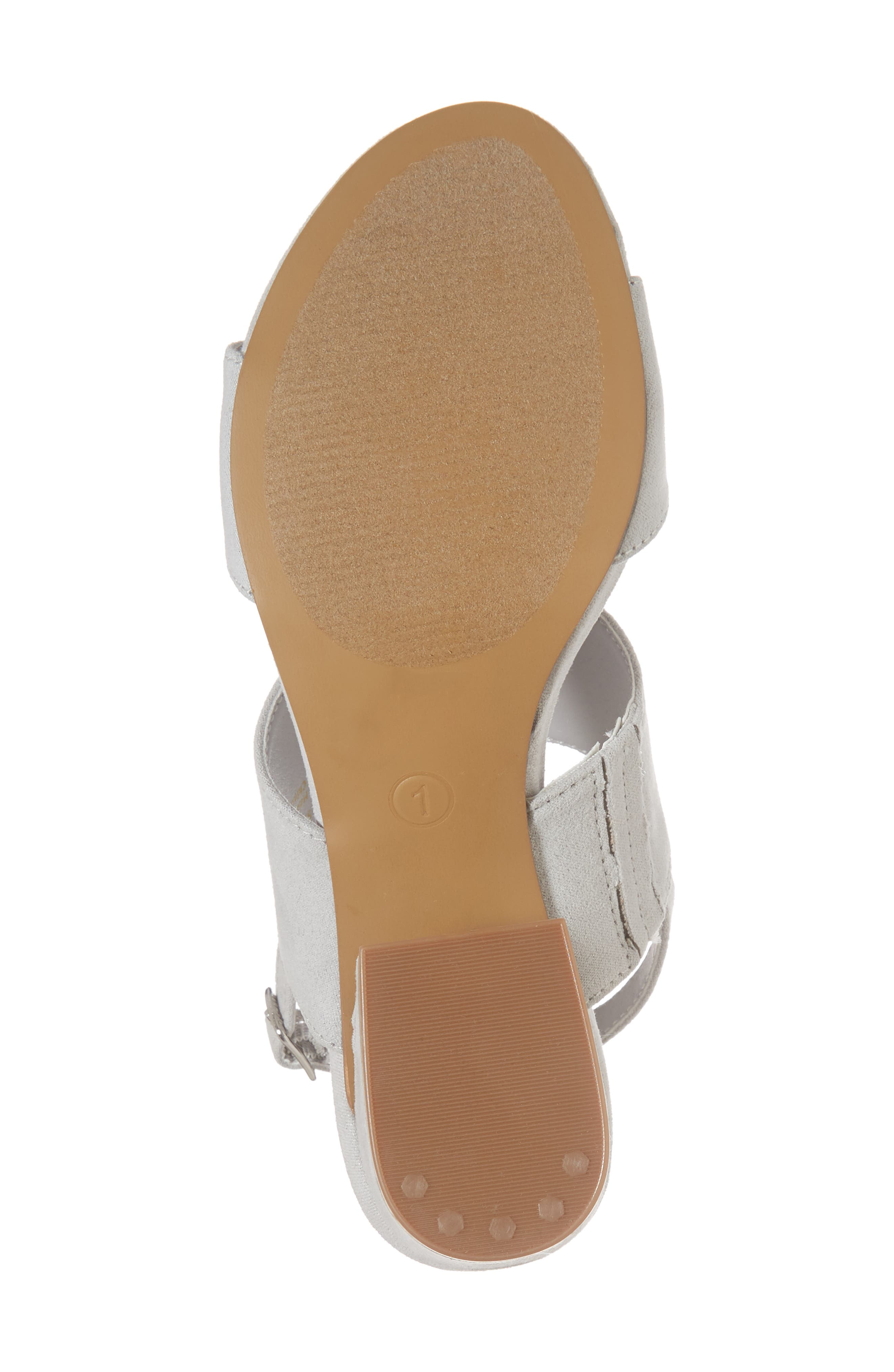 Lorne Flared Heel Sandal,                             Alternate thumbnail 6, color,                             Light Grey