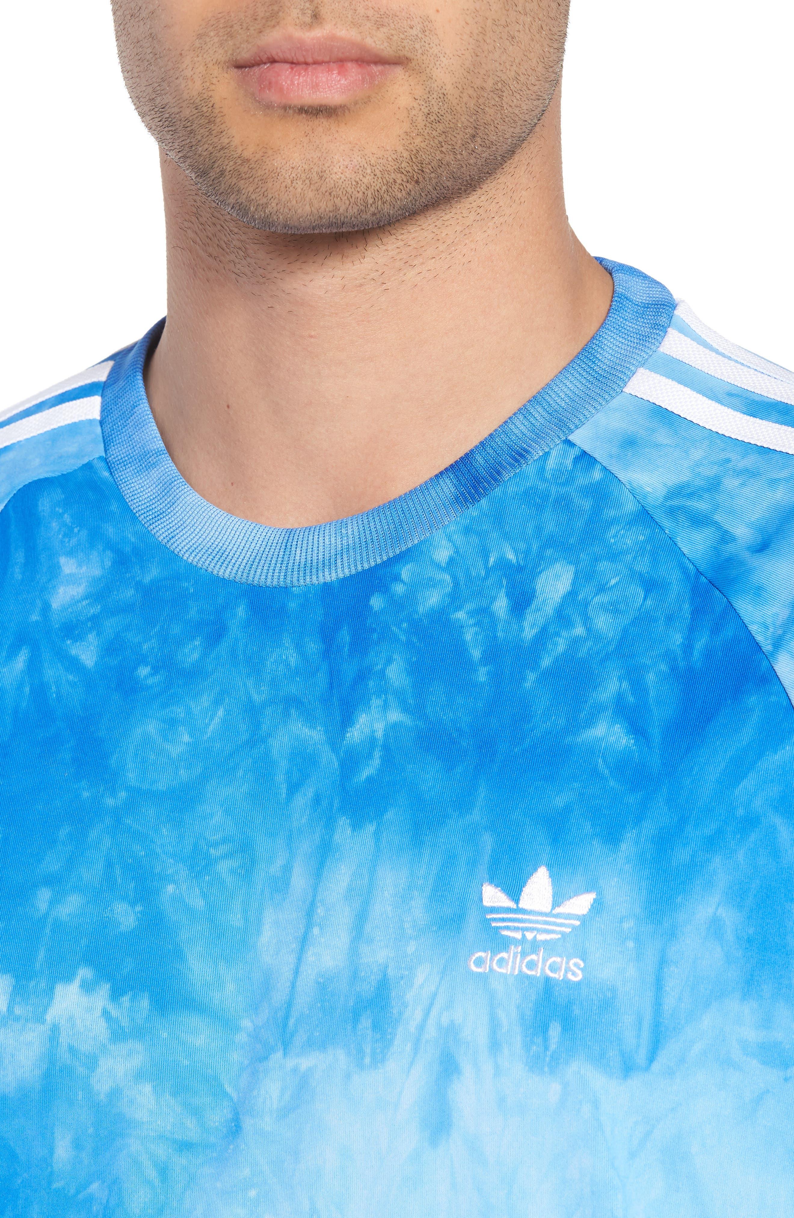 adidas Hu Holi Jersey T-Shirt,                             Alternate thumbnail 4, color,                             Blue