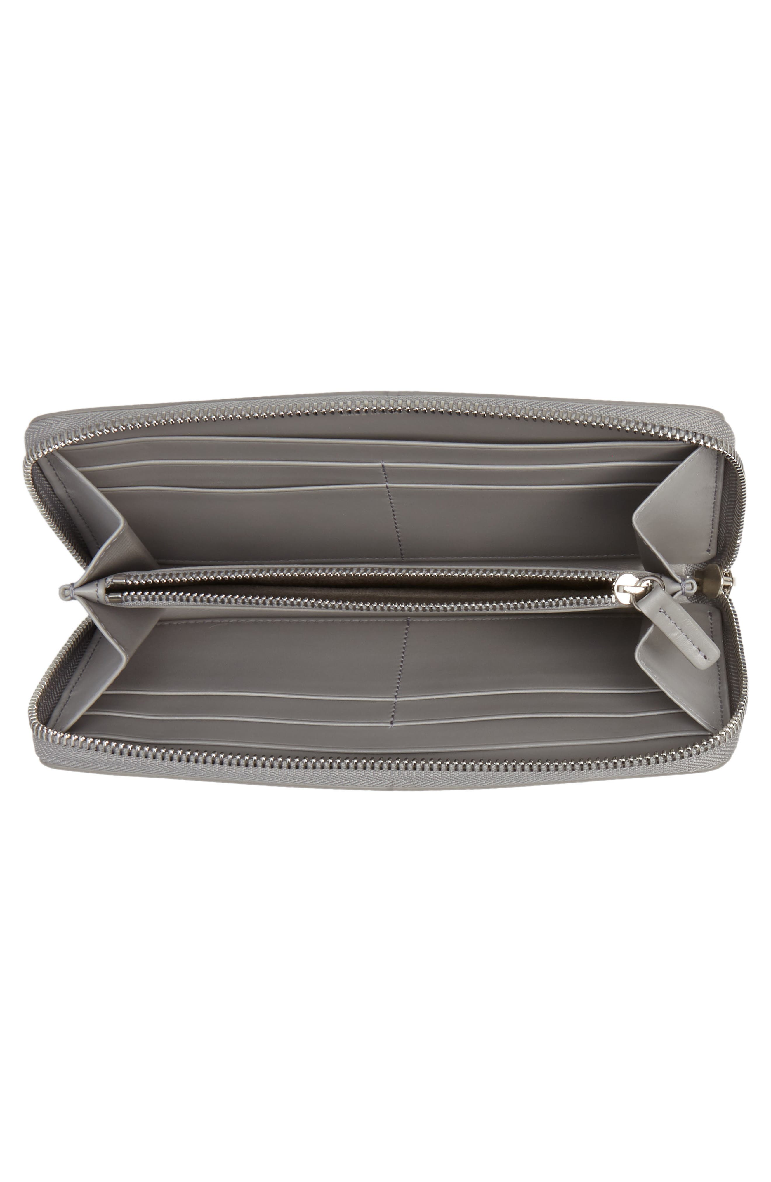 Large Panama Zip Around Wallet,                             Alternate thumbnail 2, color,                             Cold Grey
