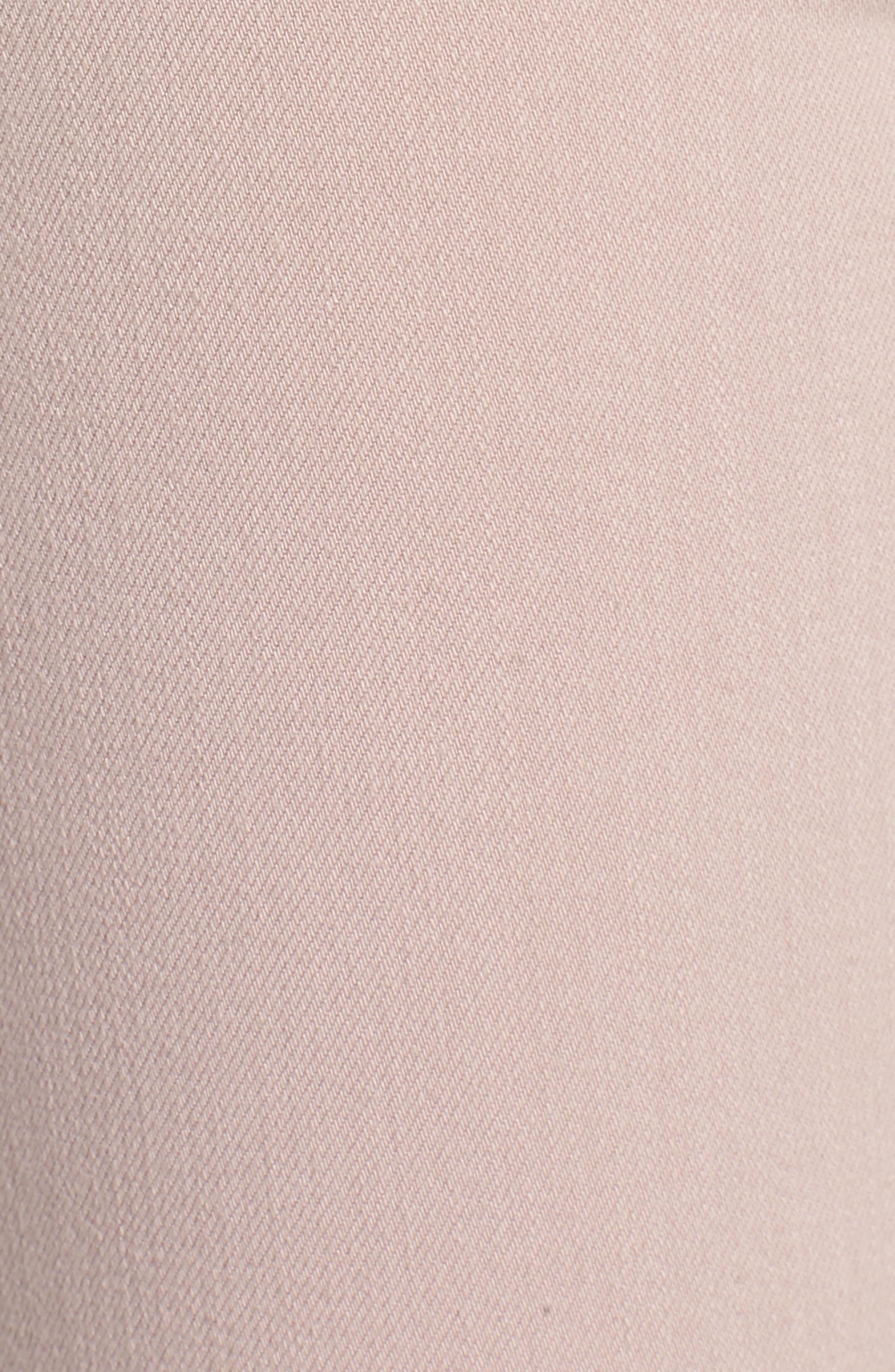Barbara High Waist Raw Hem Ankle Skinny Jeans,                             Alternate thumbnail 6, color,                             Blushing