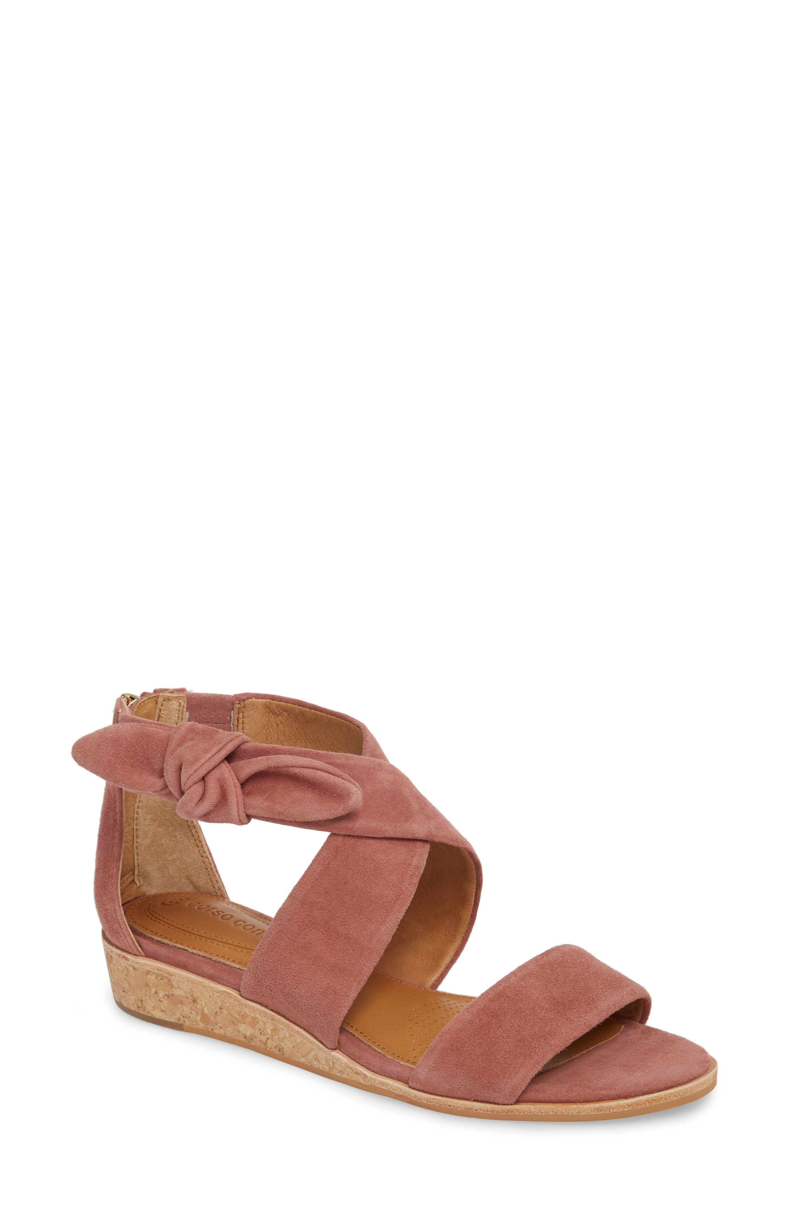 Rasque Sandal,                             Main thumbnail 1, color,                             Old Rose Leather
