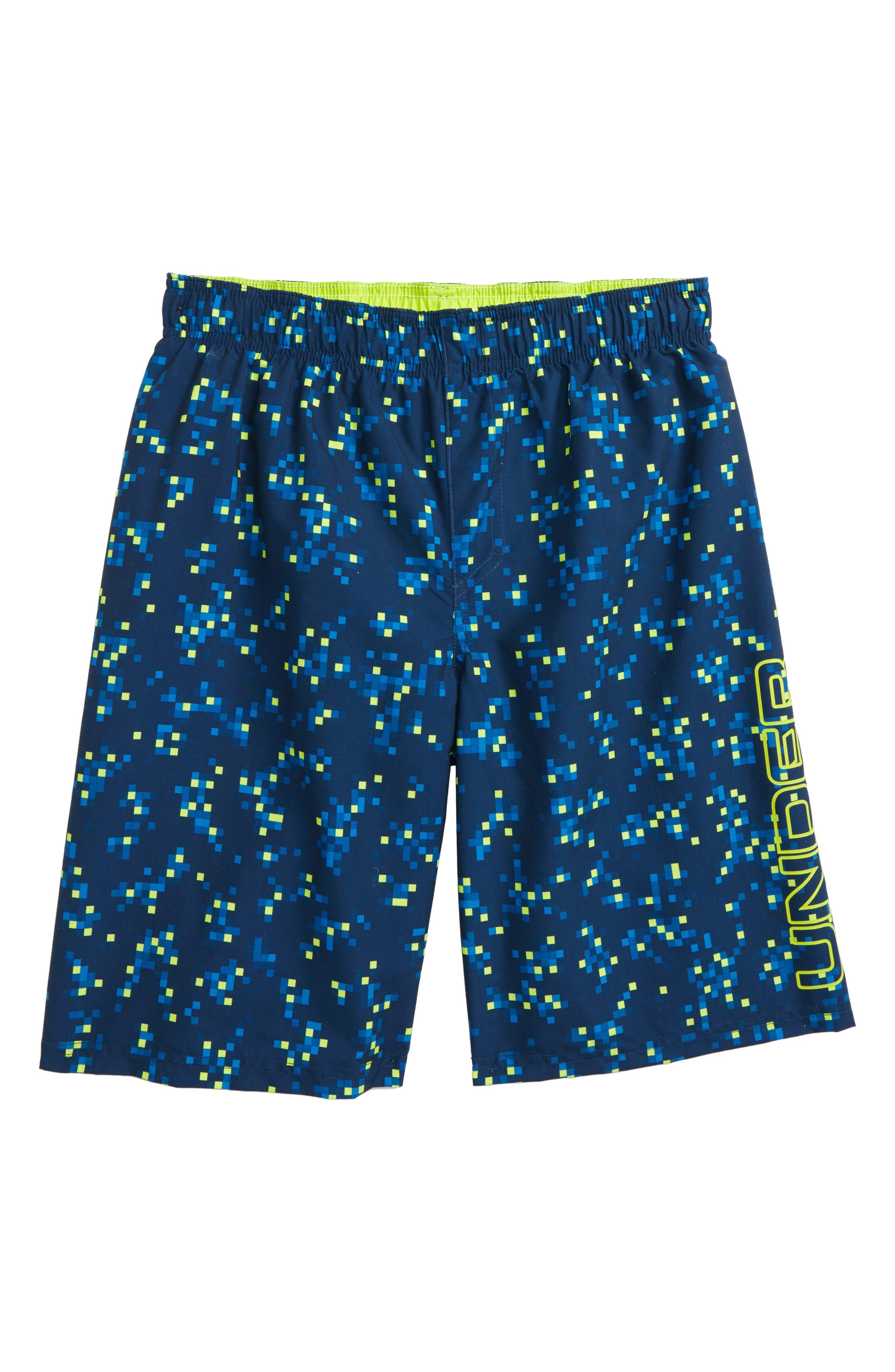 Digi Camo Volley Shorts,                         Main,                         color, Academy