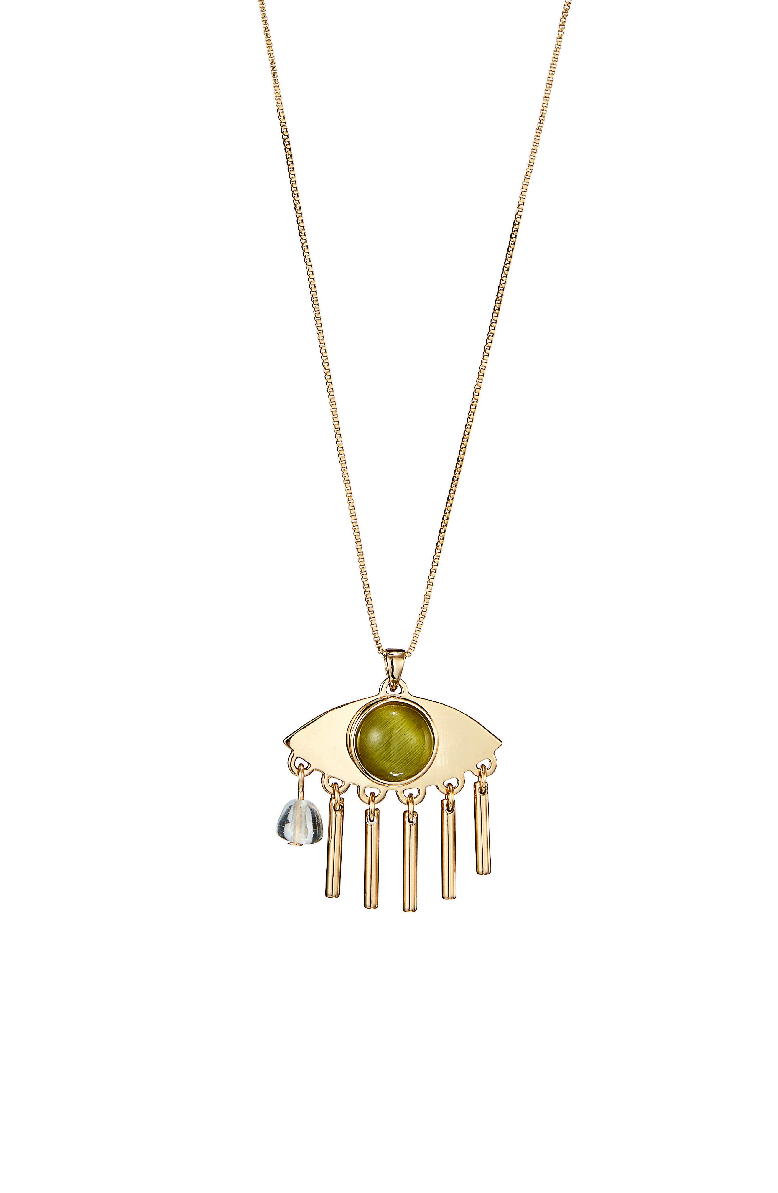 La Fille Pendant Necklace,                         Main,                         color, Gold