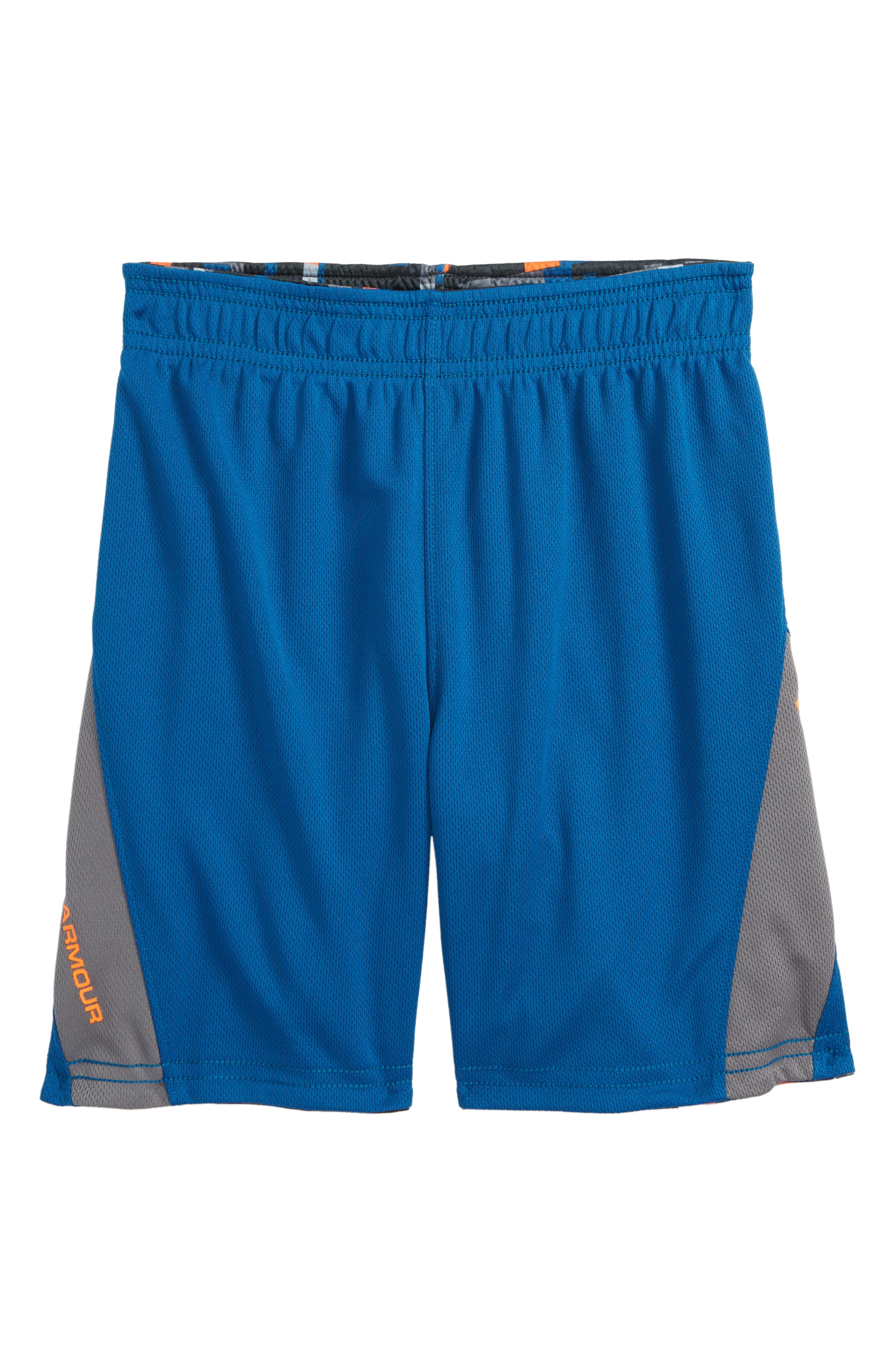 Reversible HeatGear<sup>®</sup> Shorts,                             Alternate thumbnail 3, color,                             Moroccan Blue