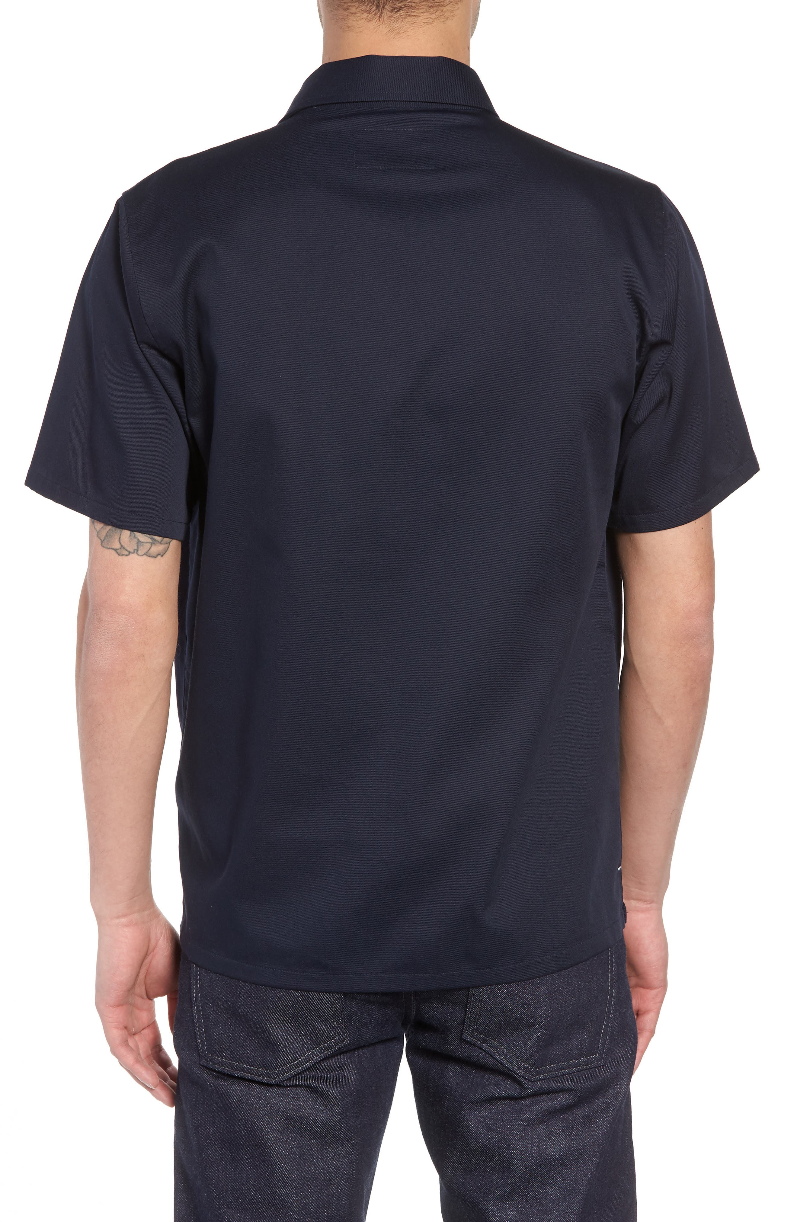 Medford Woven Shirt,                             Alternate thumbnail 3, color,                             Dark Navy