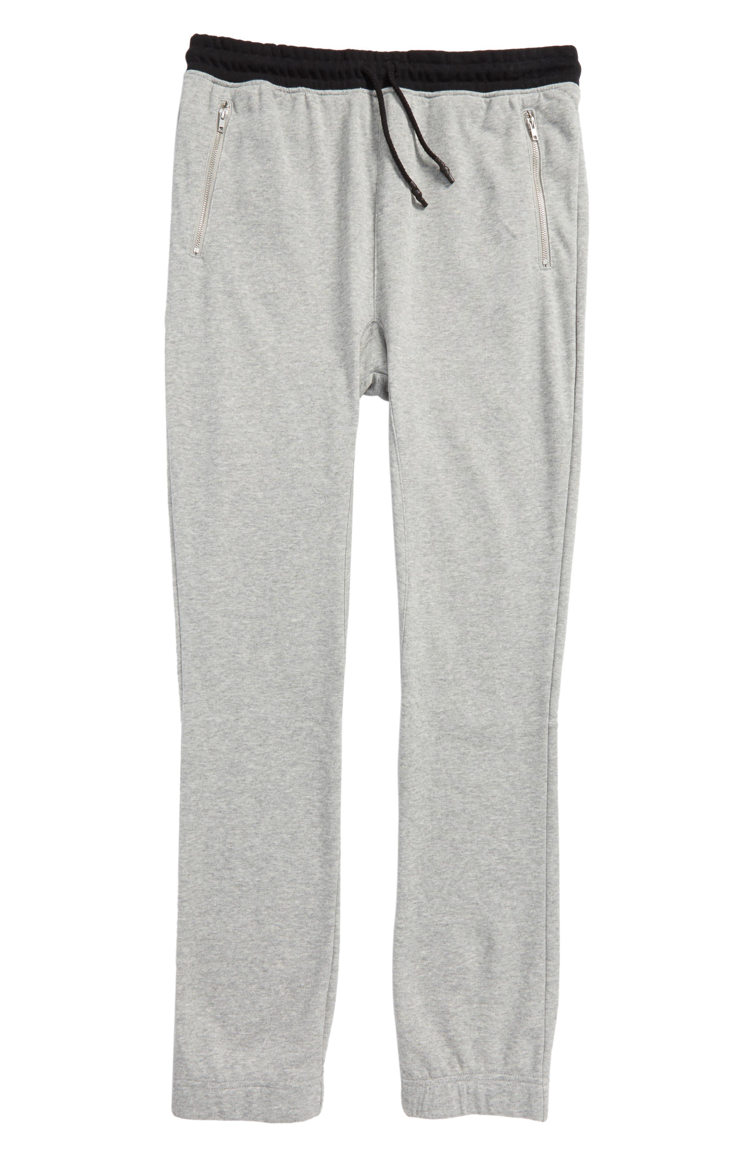 Jogger Pants,                         Main,                         color, Heather Grey/ Black