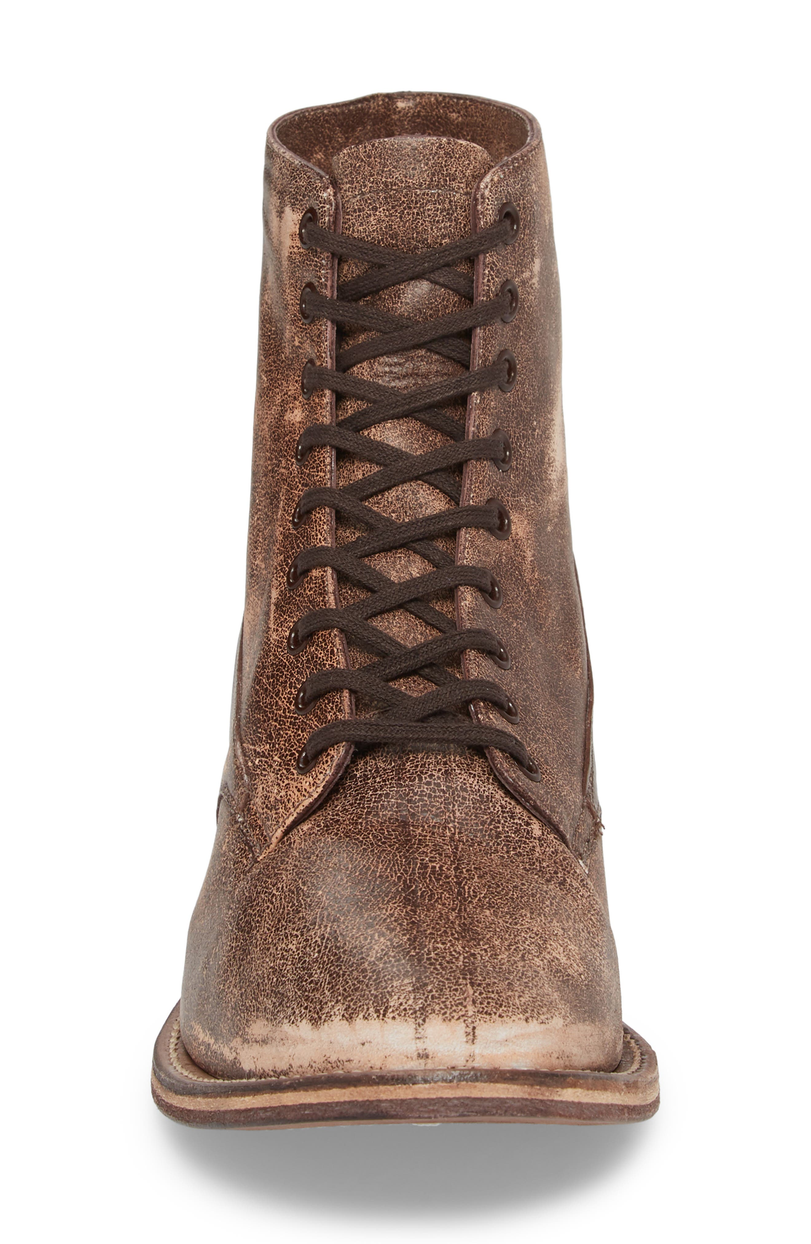 Boxcar Lace-Up Boot,                             Alternate thumbnail 4, color,                             Cordovan