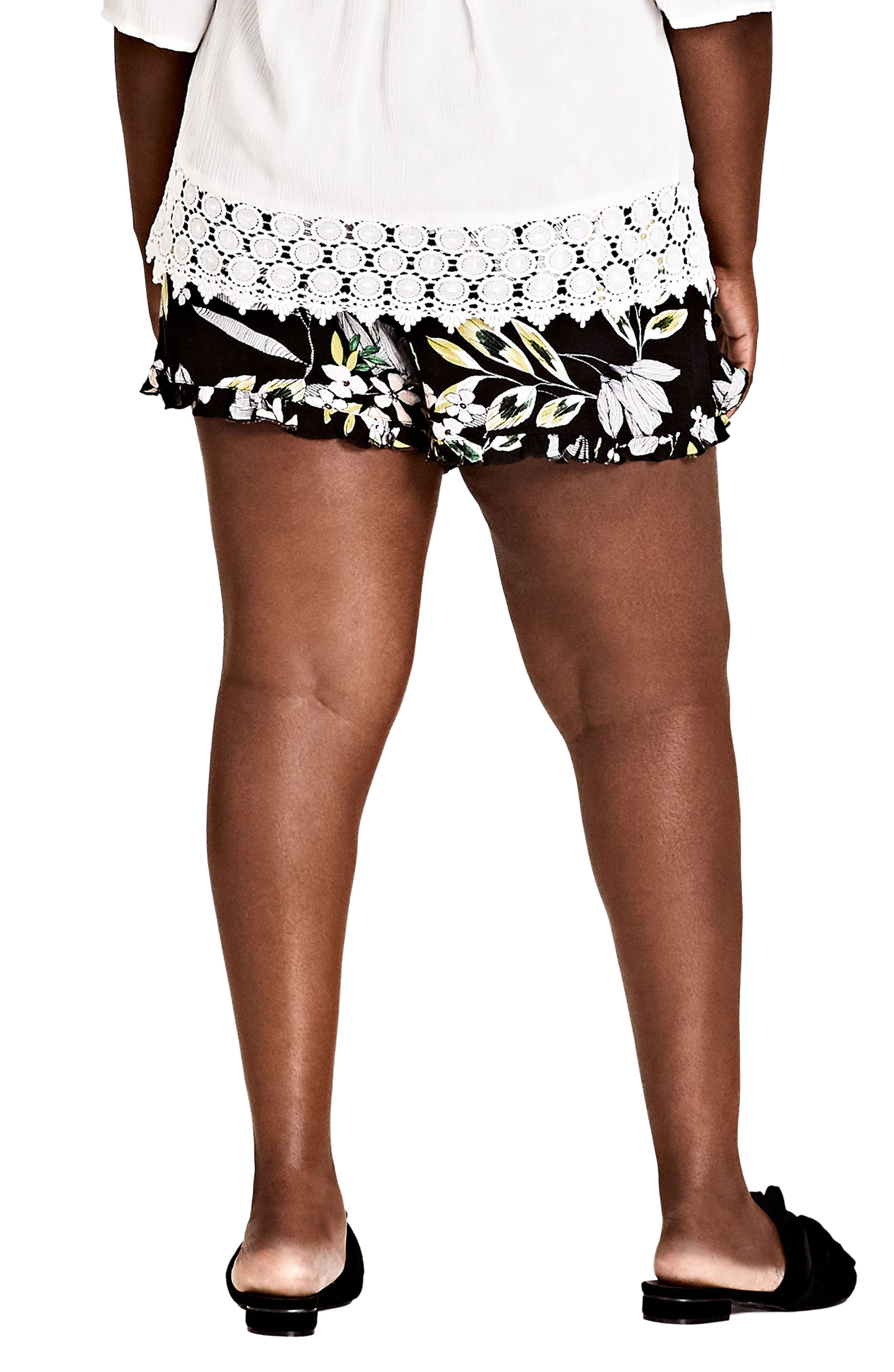 Maui Floral Pull-On Shorts,                             Alternate thumbnail 2, color,                             Maui Floral