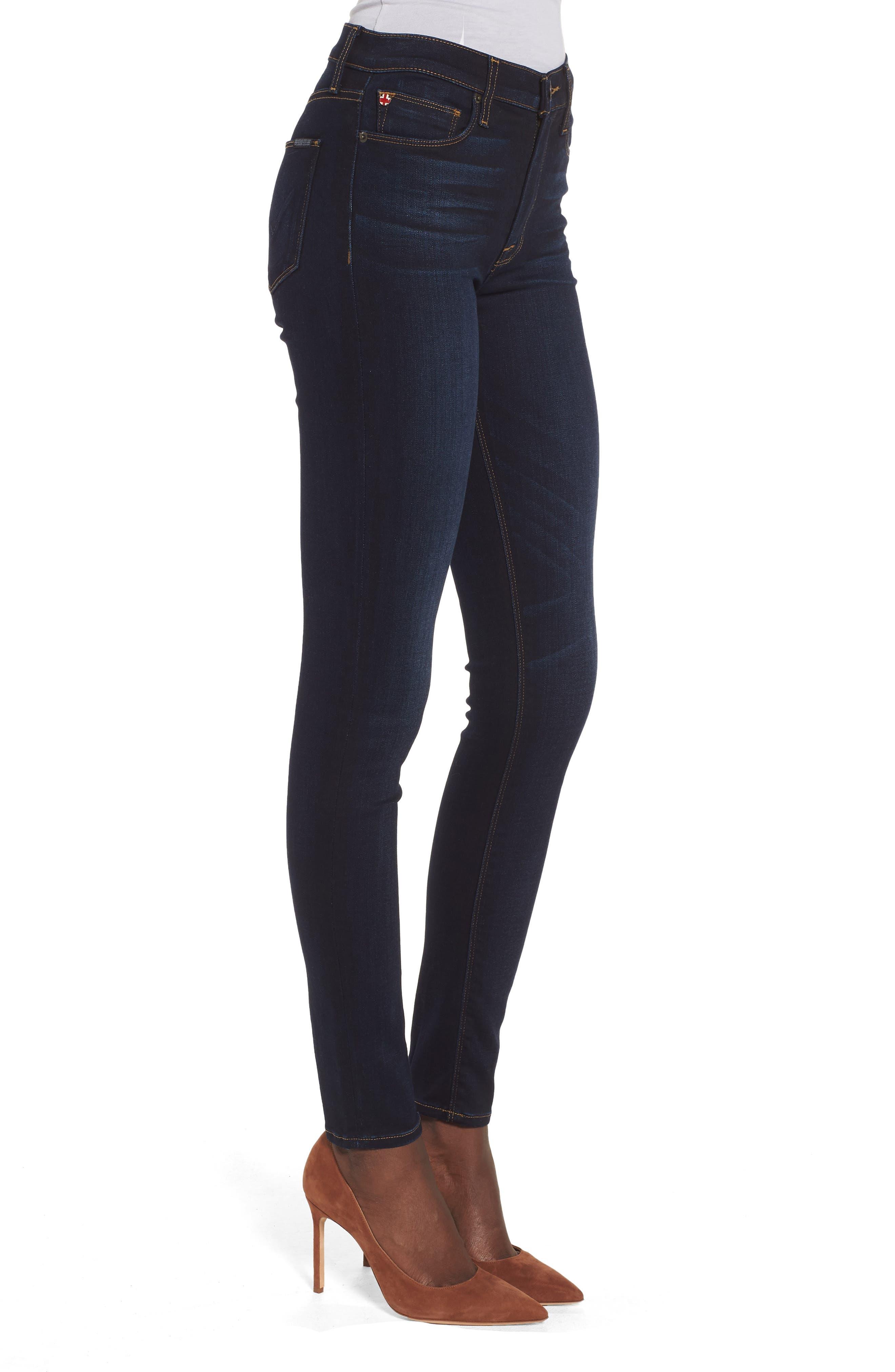 Barbara High Waist Ankle Supermodel Skinny Jeans,                             Alternate thumbnail 3, color,                             Calvary