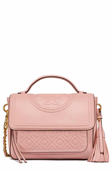d6d1b3b53353 Tory Burch Fleming Quilted Leather Top Handle Satchel