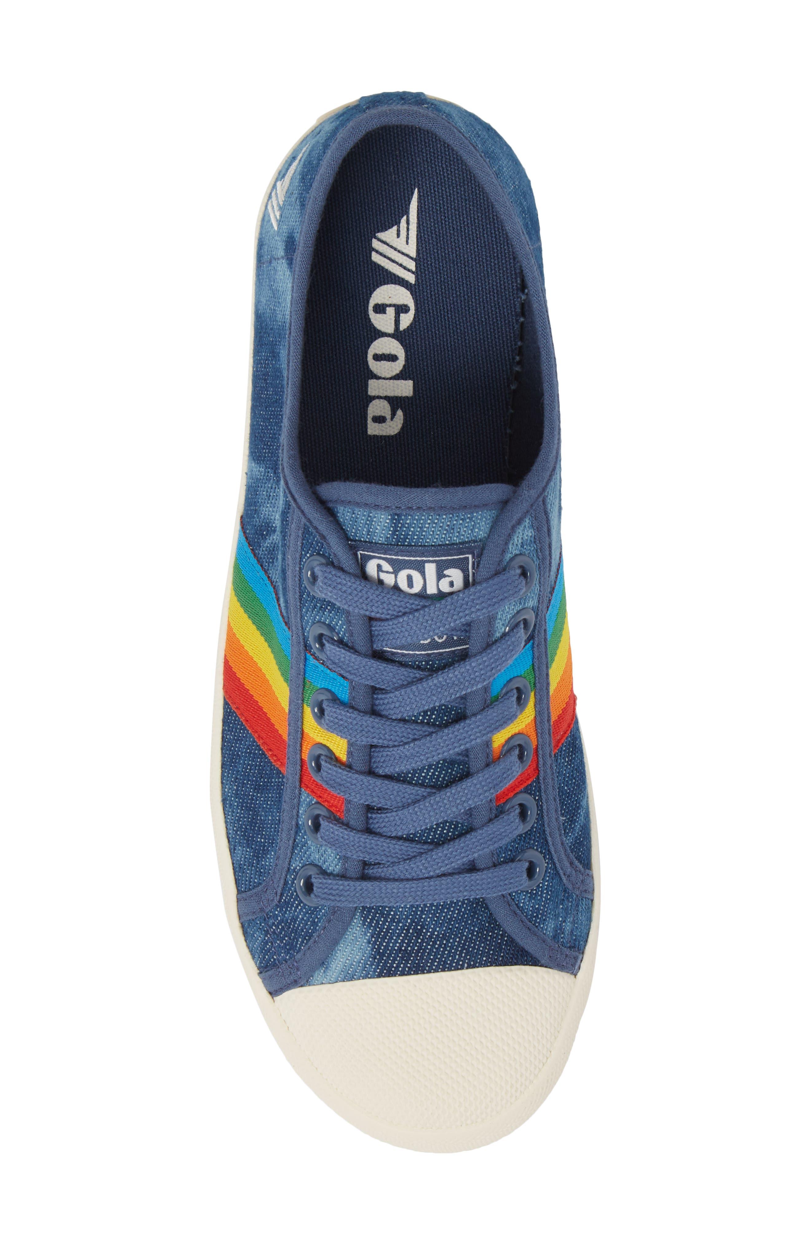 Alternate Image 5  - Gola Coaster Rainbow Striped Sneaker (Women)