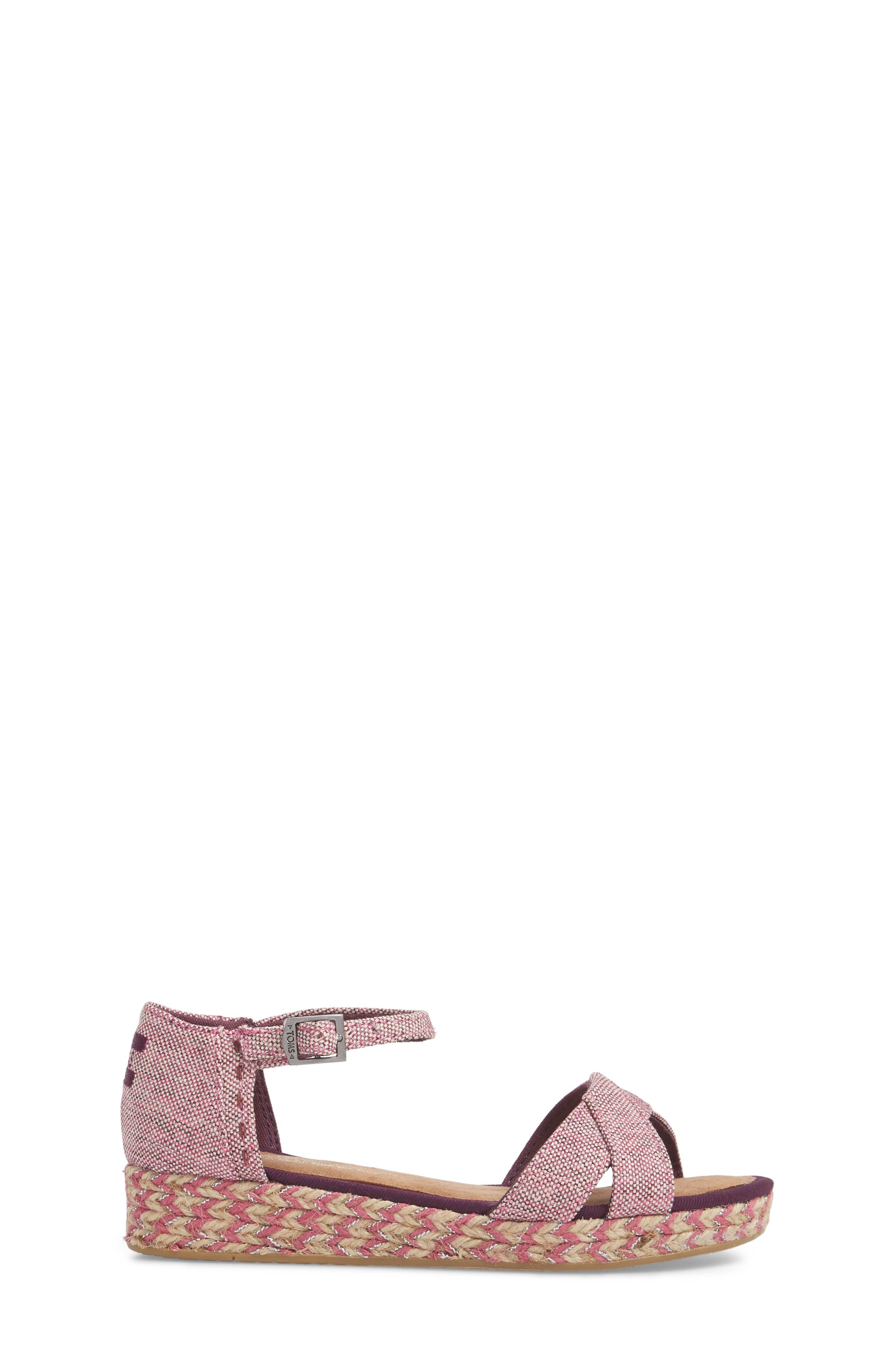 Harper Wedge Sandal,                             Alternate thumbnail 3, color,                             Plum Oxford Melange